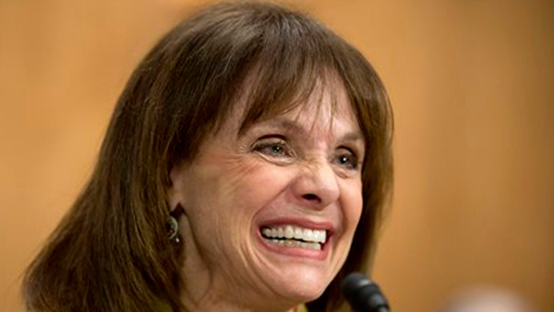 May 7, 2014: In this file photo, actress and cancer survivor Valerie Harper, testifies before a Senate Special Committee on Aging hearing to examine the fight against cancer on Capitol Hill in Washington.