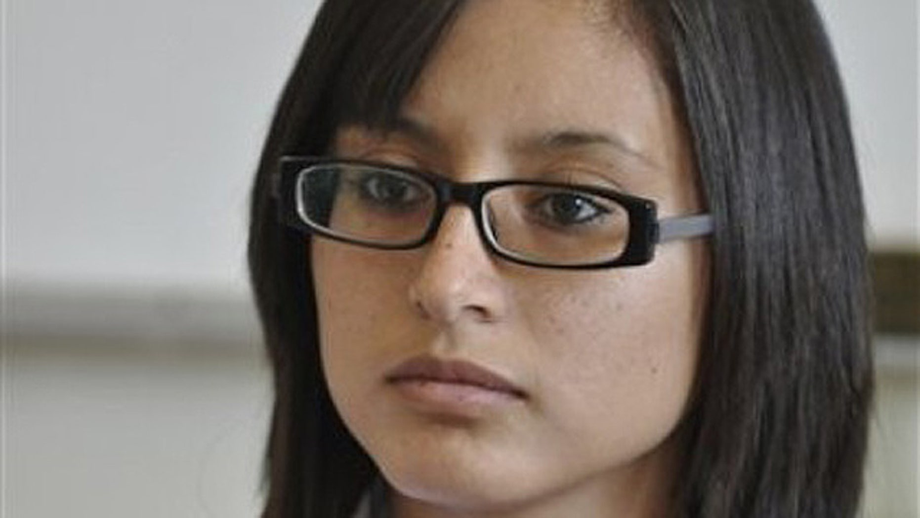 Oct. 20, 2010: Twenty-year-old Marisol Valles Garcia listens to a question during a news conference after her swearing-in ceremony as the new police chief of the border town of Praxedis G. Guerrero, near Ciudad Juarez, Mexico. (AP)