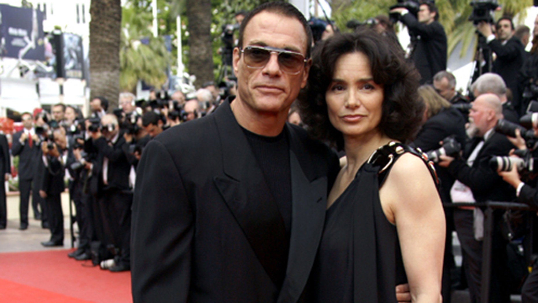 Claude van Damme and Gladys Portugues at Cannes in 2009. (Reuters)