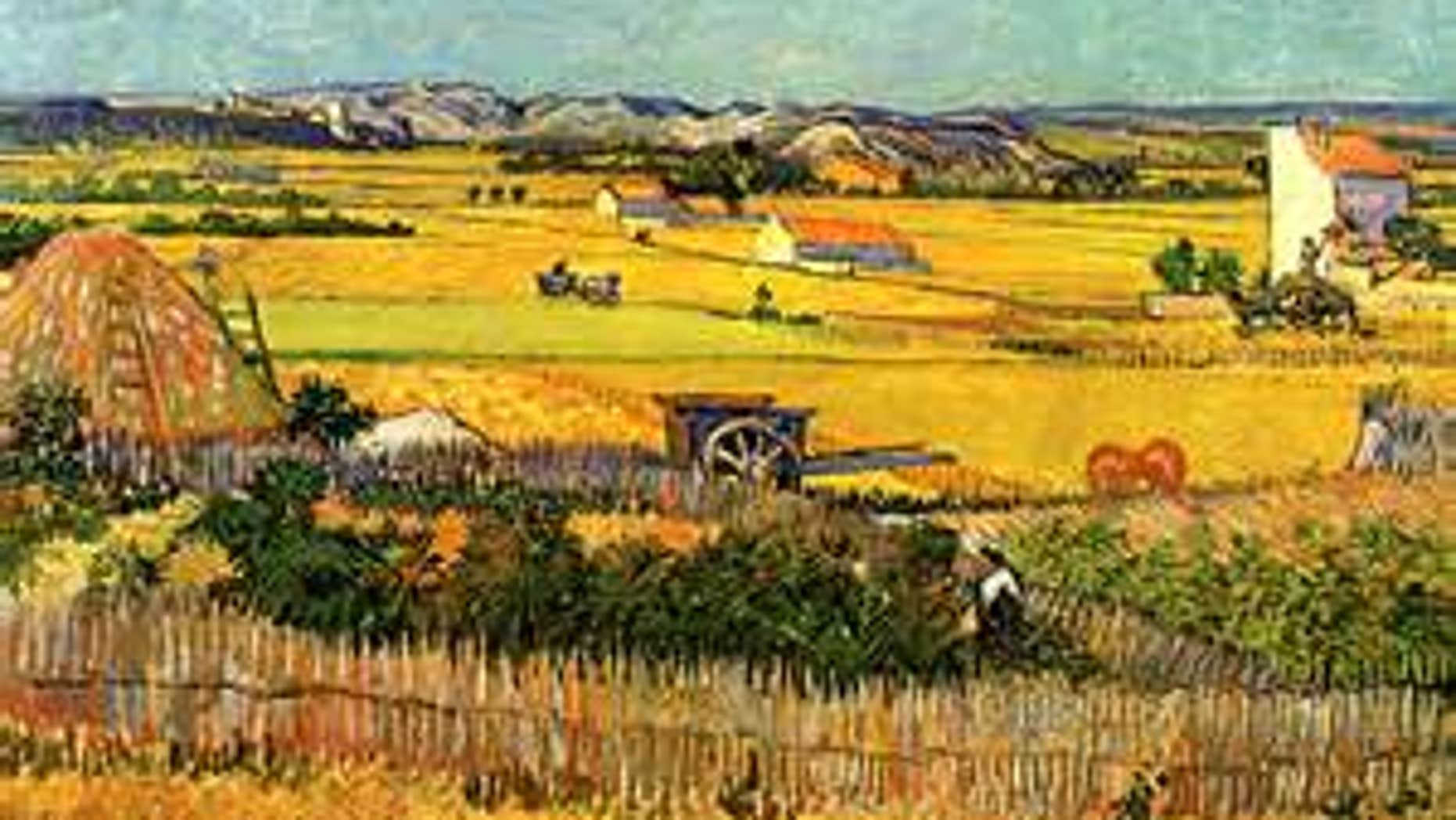 "Undated photo. Copy of ""The Harvest,"" by Vincent van Gogh. Dutch police have arrested a 56-year-old man suspected of trying to sell a fake Vincent van Gogh painting with a multimillion-dollar price tag."