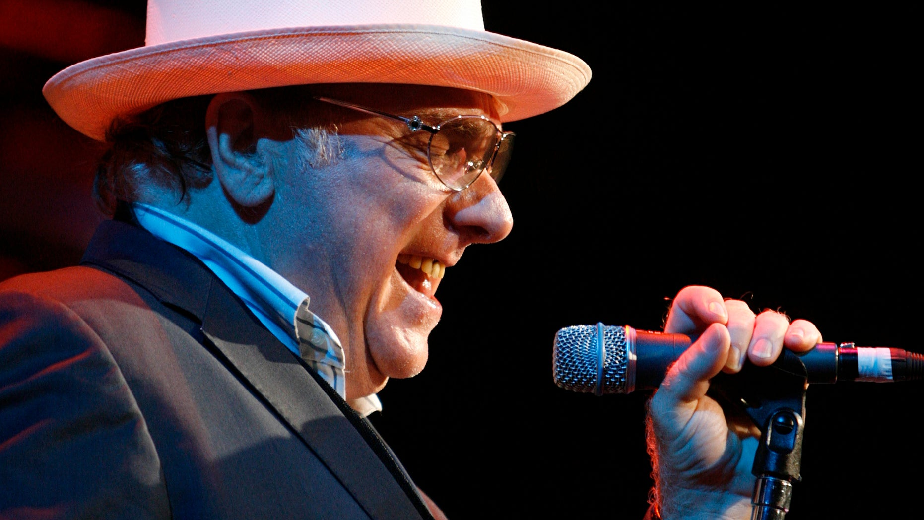 July 18, 2007. Van Morrison performs during a concert at the 41st Montreux Jazz Festival.