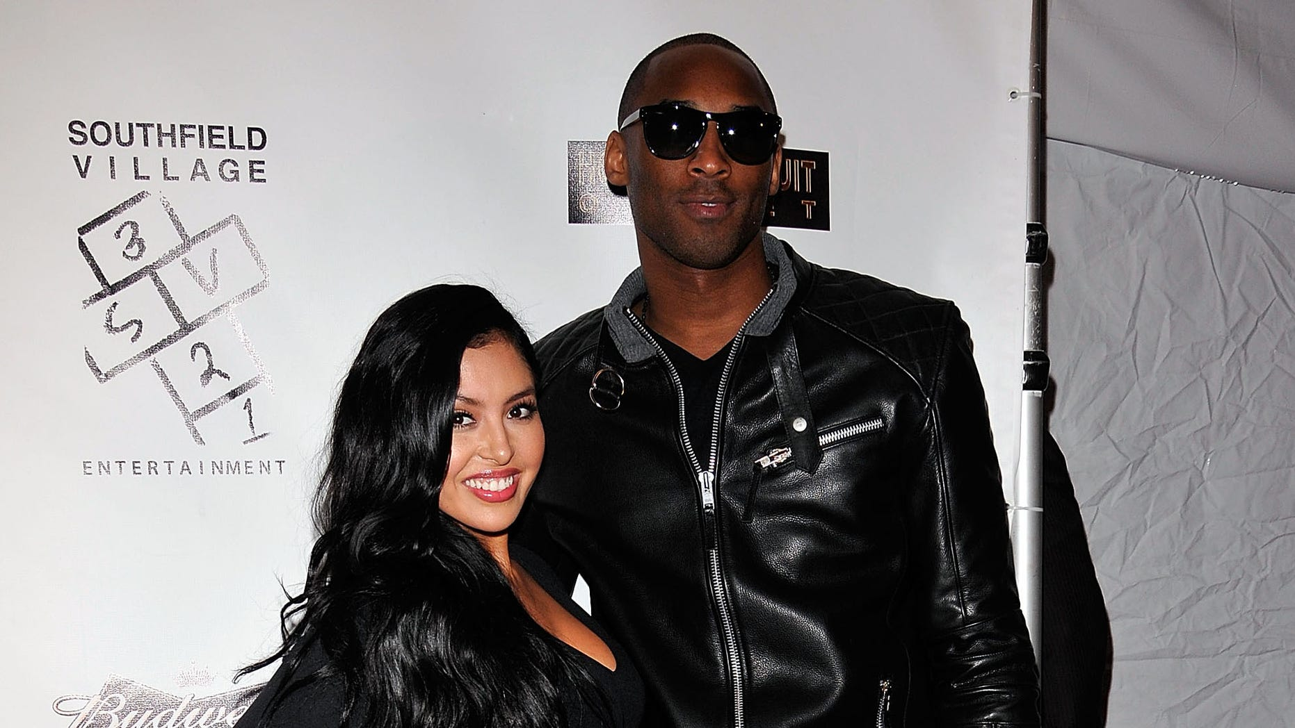 HOLLYWOOD, CA - FEBRUARY 19:  NBA superstar Kobe Bryant (R) arrives with wife Vanessa at the after-party for his hand and footprint ceremony, held at Boulevard3 on February 19, 2011 in Hollywood, California.  (Photo by Michael Tullberg/Getty Images)