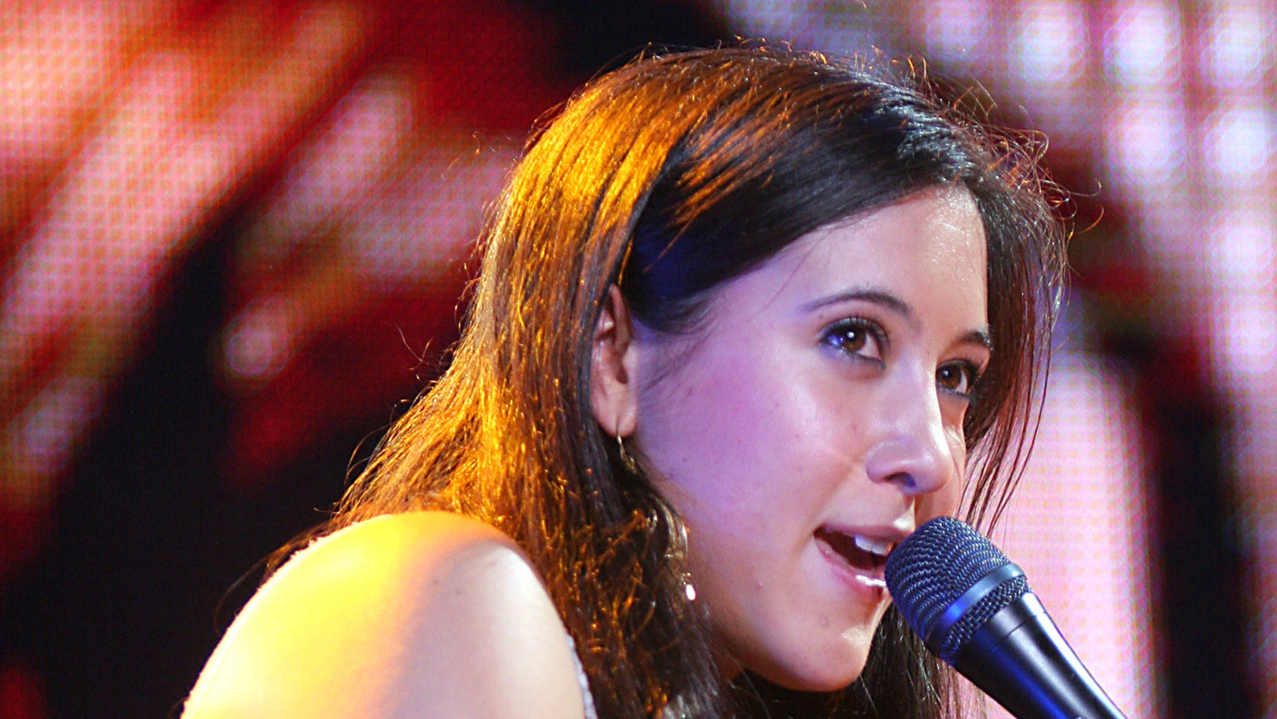 December 10, 2004. Singer Vanessa Carlton performs during Z100's Jingle Ball 2004 concert at Madison Square Garden, in New York.