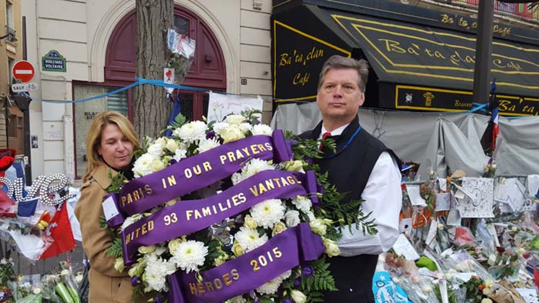 Hamilton Peterson and Patricia Lewis felt a special bond with the families of victims of the terror attacks in Paris. (Casey Sherman)