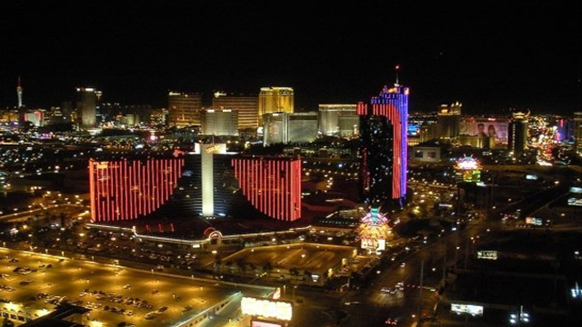 A view of Las Vegas. Roughly 2,000 housekeepers, waiters and others at nine of 10 downtown Las Vegas casinos have voted to go on strike June 1 if they don't reach agreements on a series of issues, the thorniest of which involve new ObamaCare-related cost increases, according to the union.
