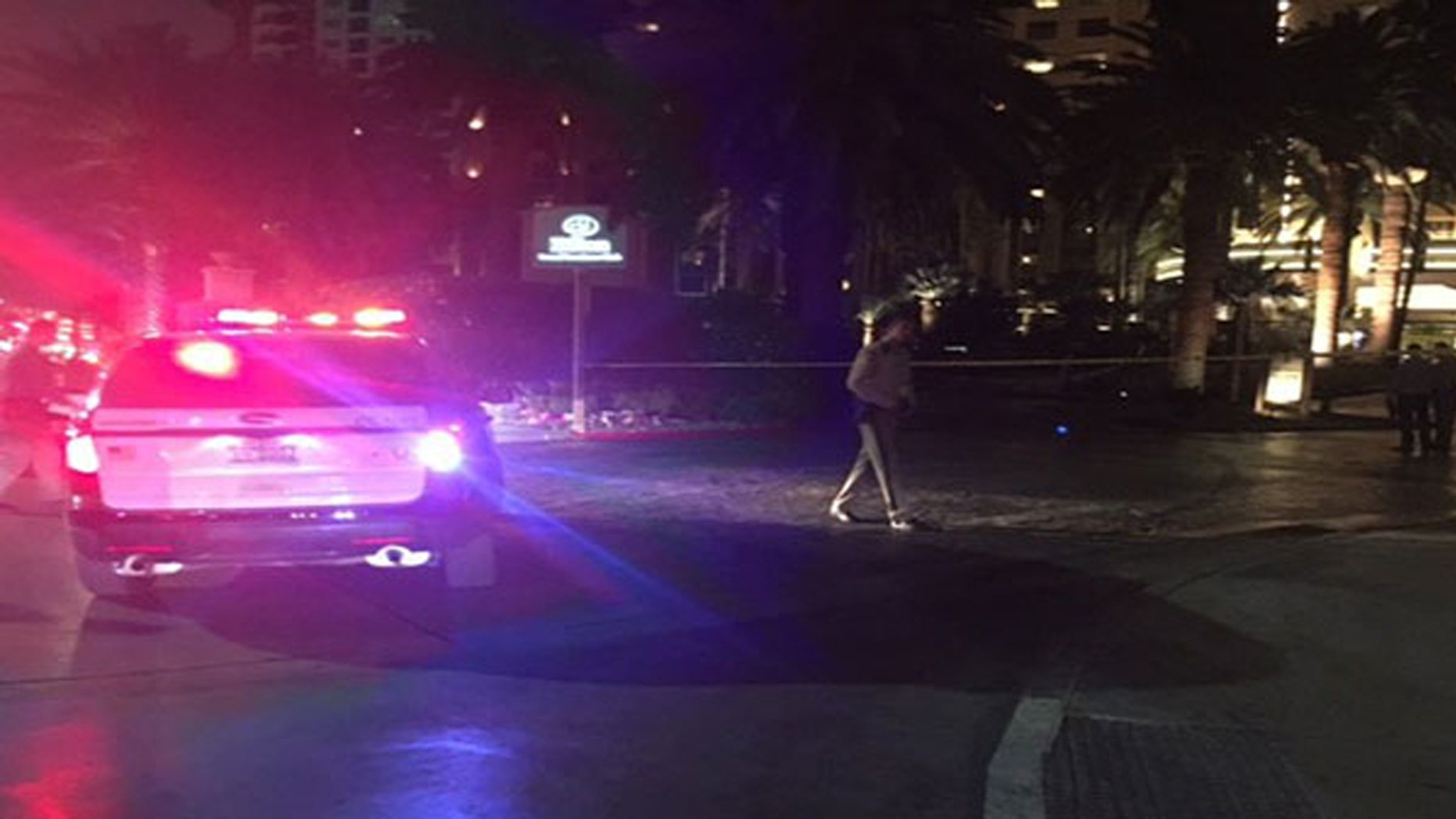 Police responded to the scene of a fatal shooting at the Hilton Grand Hotel on the Las Vegas Strip.