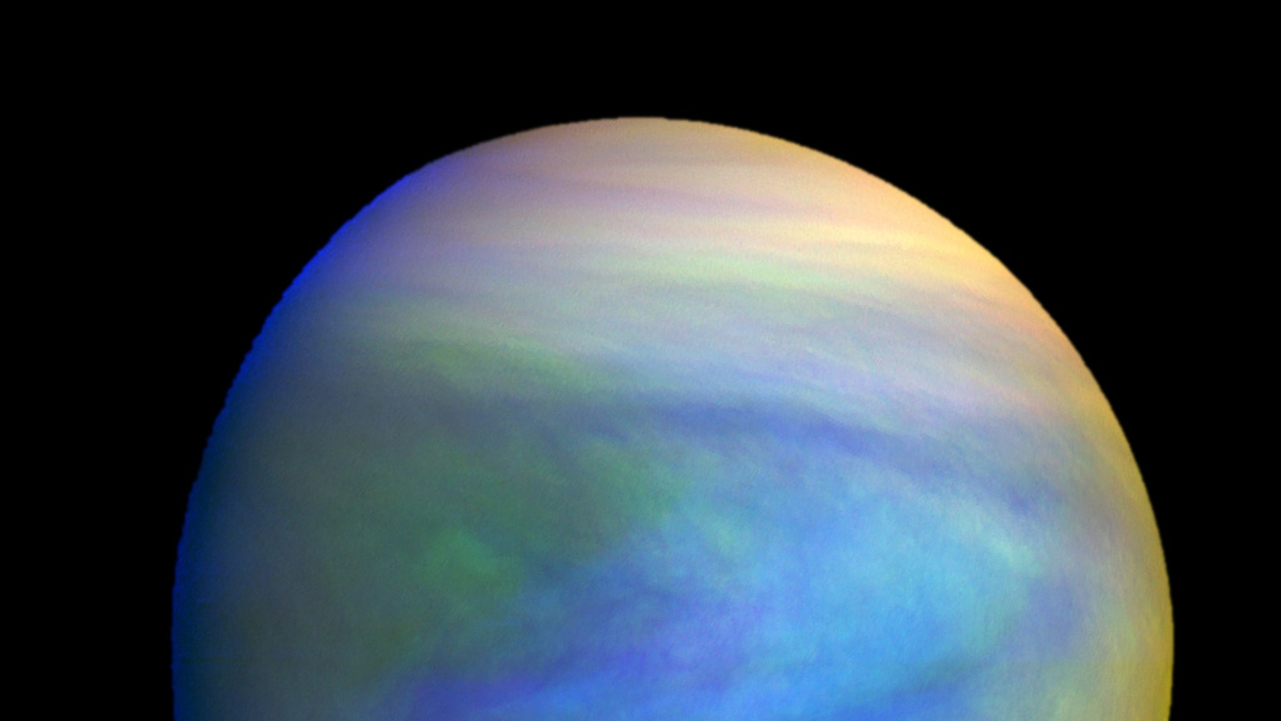 A composite image of Venus as seen by Japan's Akatsuki spacecraft. The clouds of Venus may provide an environment capable of supporting microbial life, some researchers say.