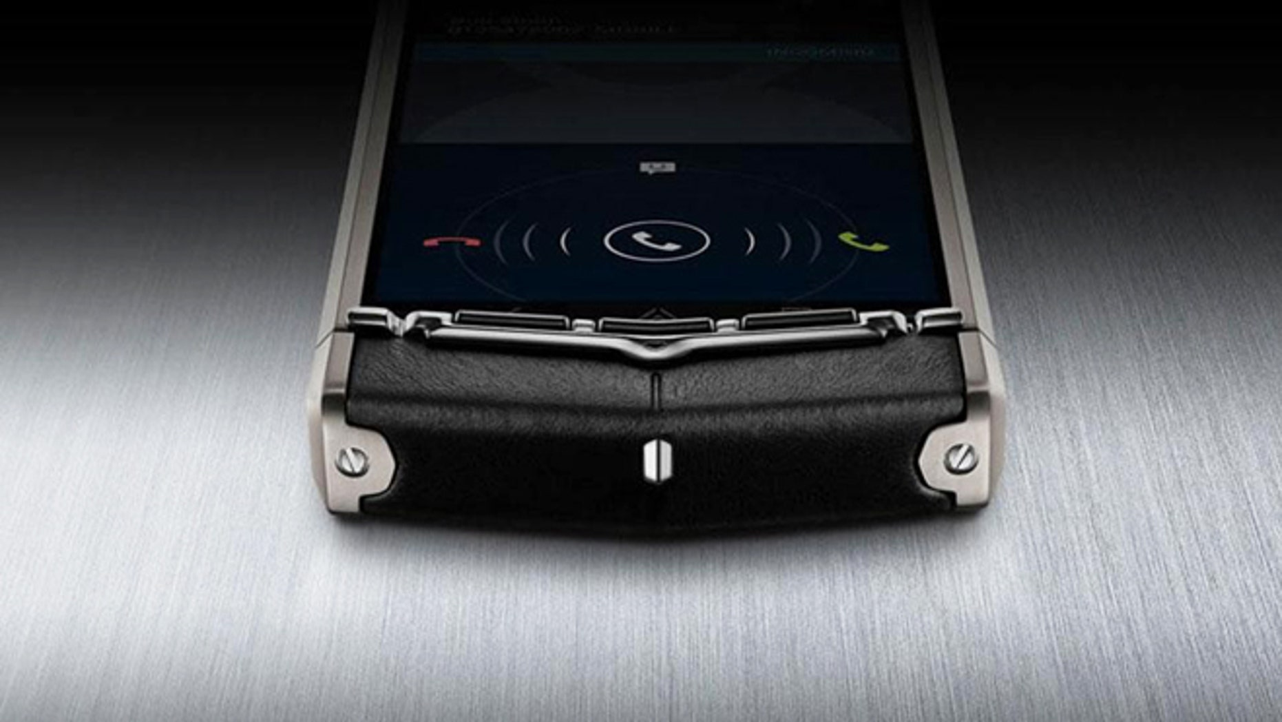 """A luxury smartphone from Vertu, which sells for $11,000, comes with a concierge and features an """"unscratchable"""" screen."""