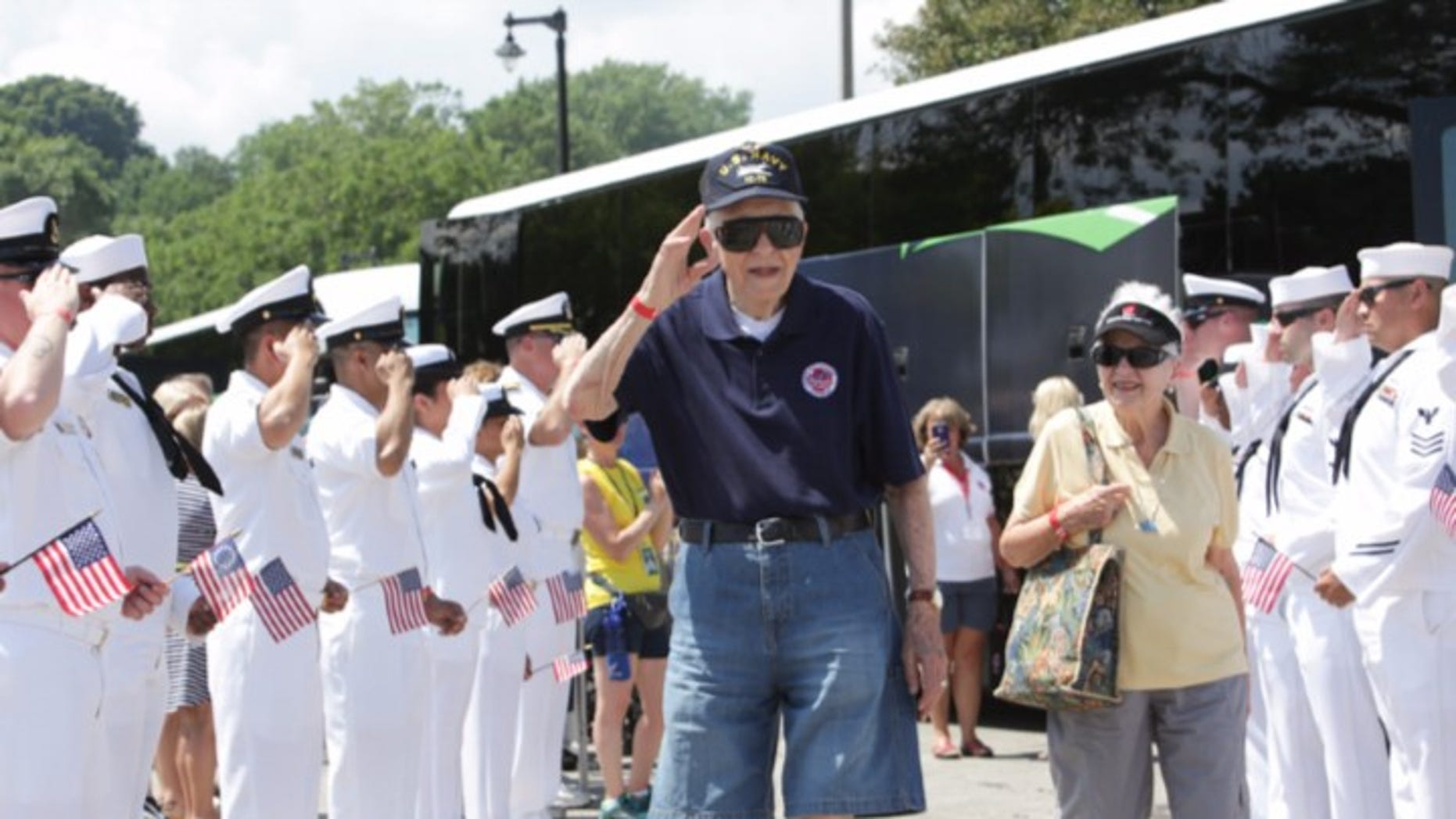 Veteran Chuck Franzke's celebratory dancing videos have gone viral.