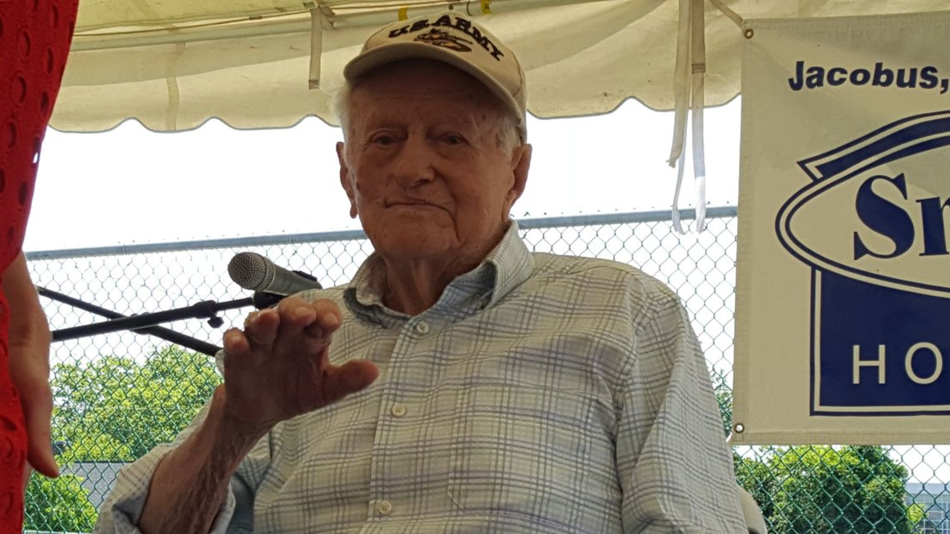 Sam Crane, a Word War II veteran, had his lost medals restored to him in a July 4th ceremony.