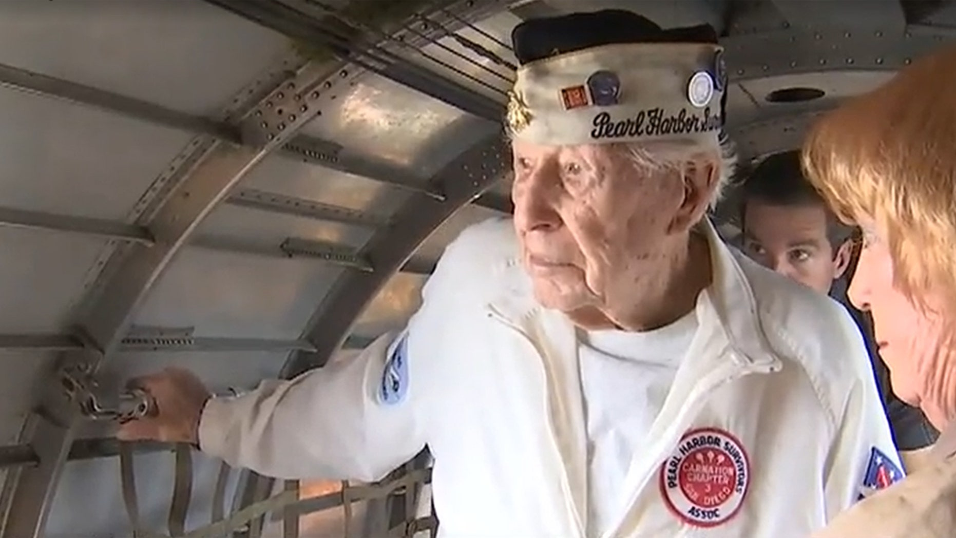 On his birthday, WWII veteran Eugene Leonard got to fly in a B-17 bomber.