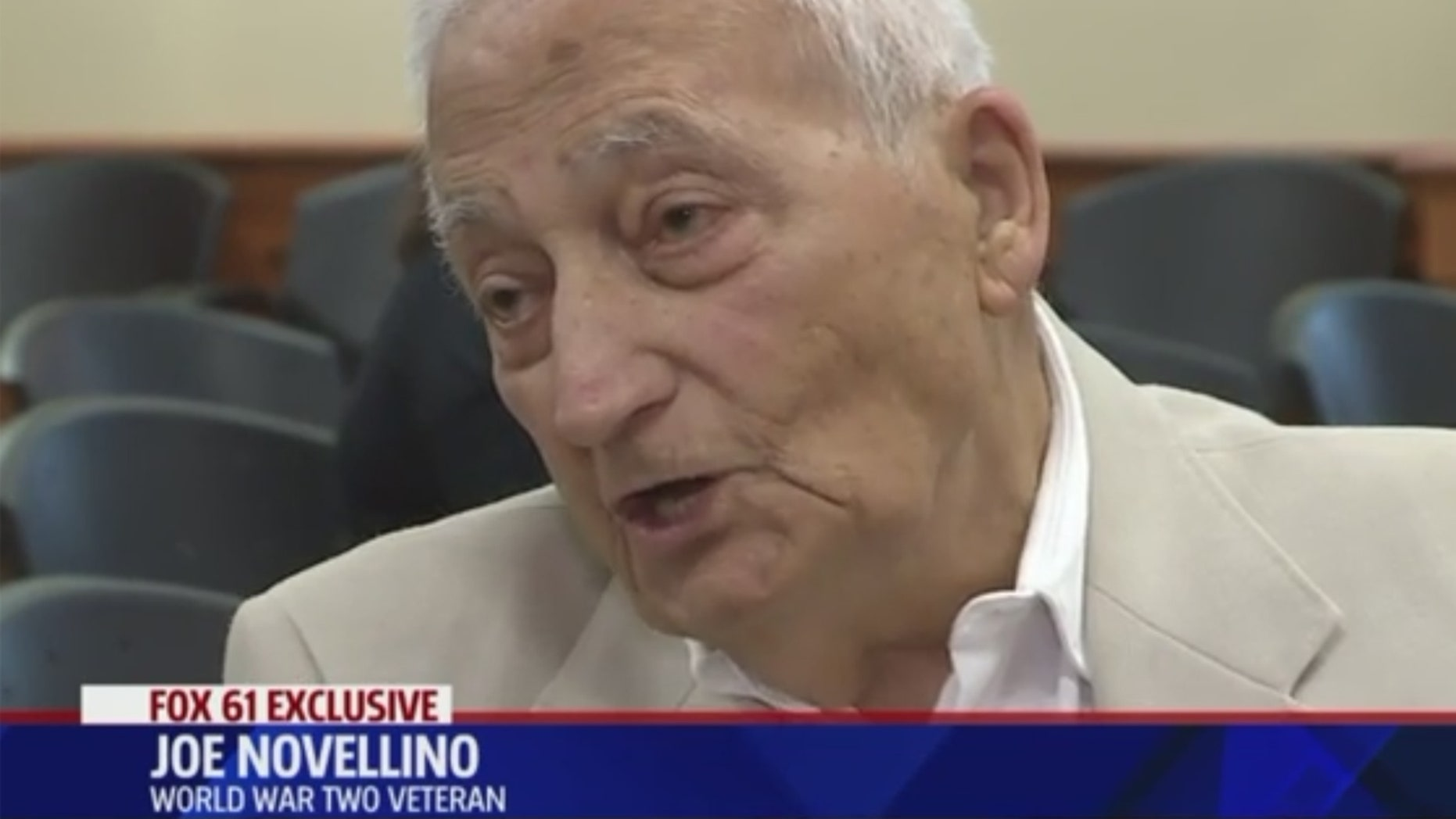 Connecticut veteran Joe Novellino, who got his medals back after they were stolen from his home.