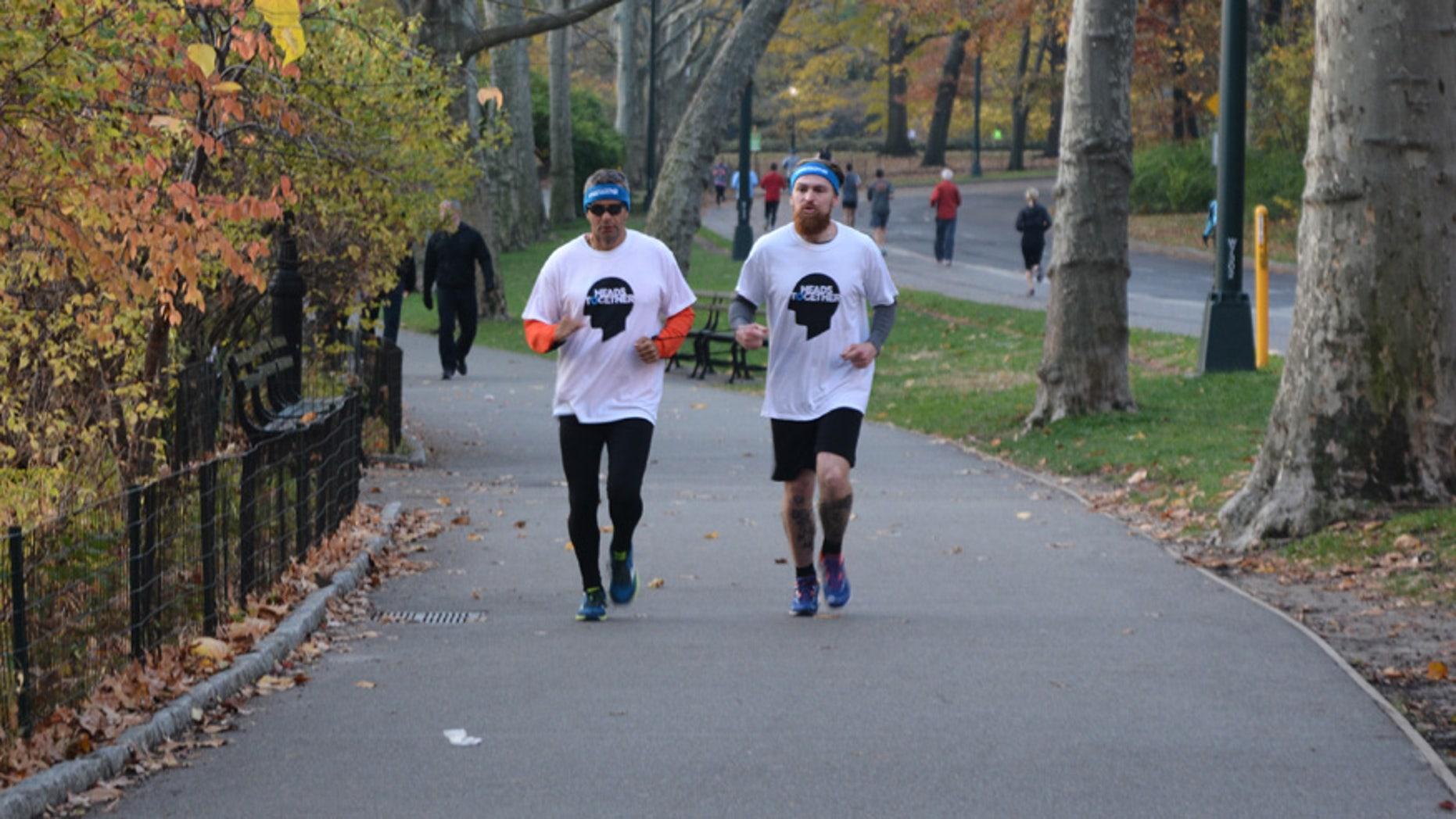 Ivan Castro (left) and Karl Hinnett (right) will run back-to-back marathons to raise awareness for mental health.