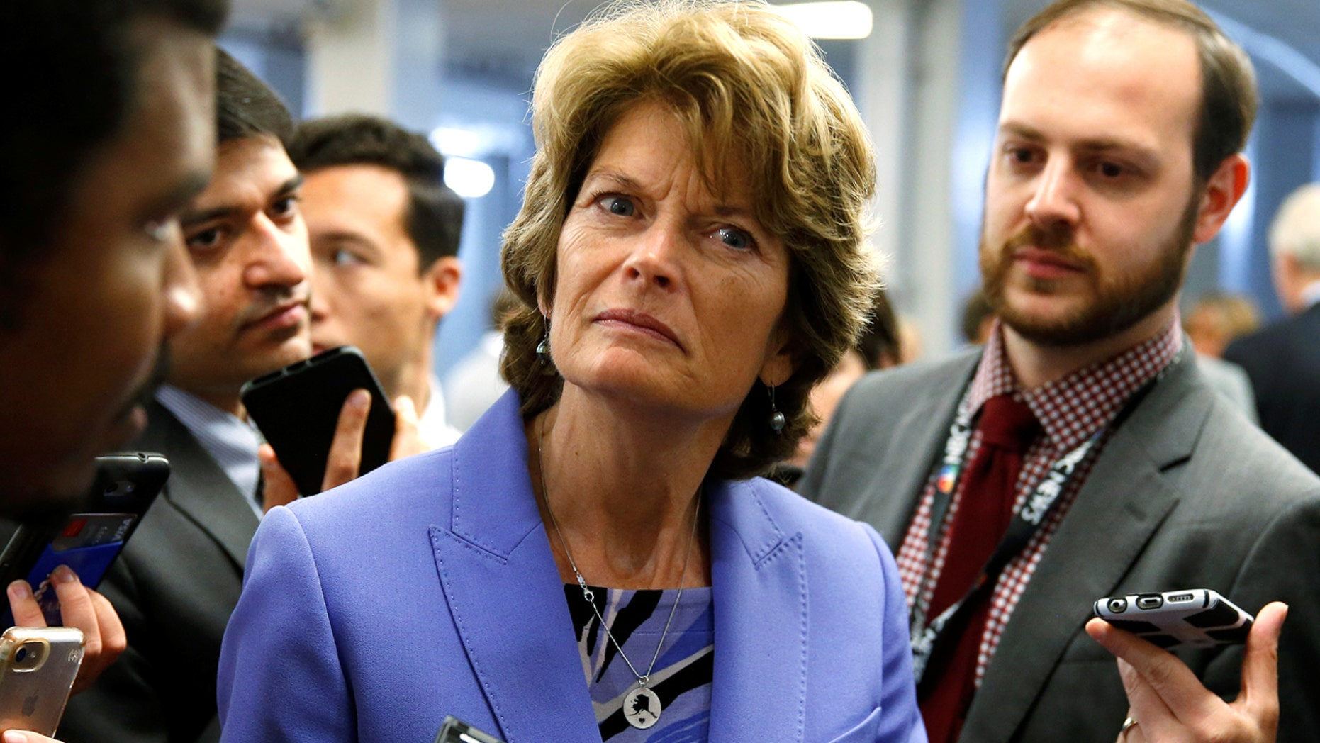 FILE: Lisa Murkowski, R-Ak., wrote in an op-ed saying that she backs the Republican effort to repeal ObamaCare's individual mandate.
