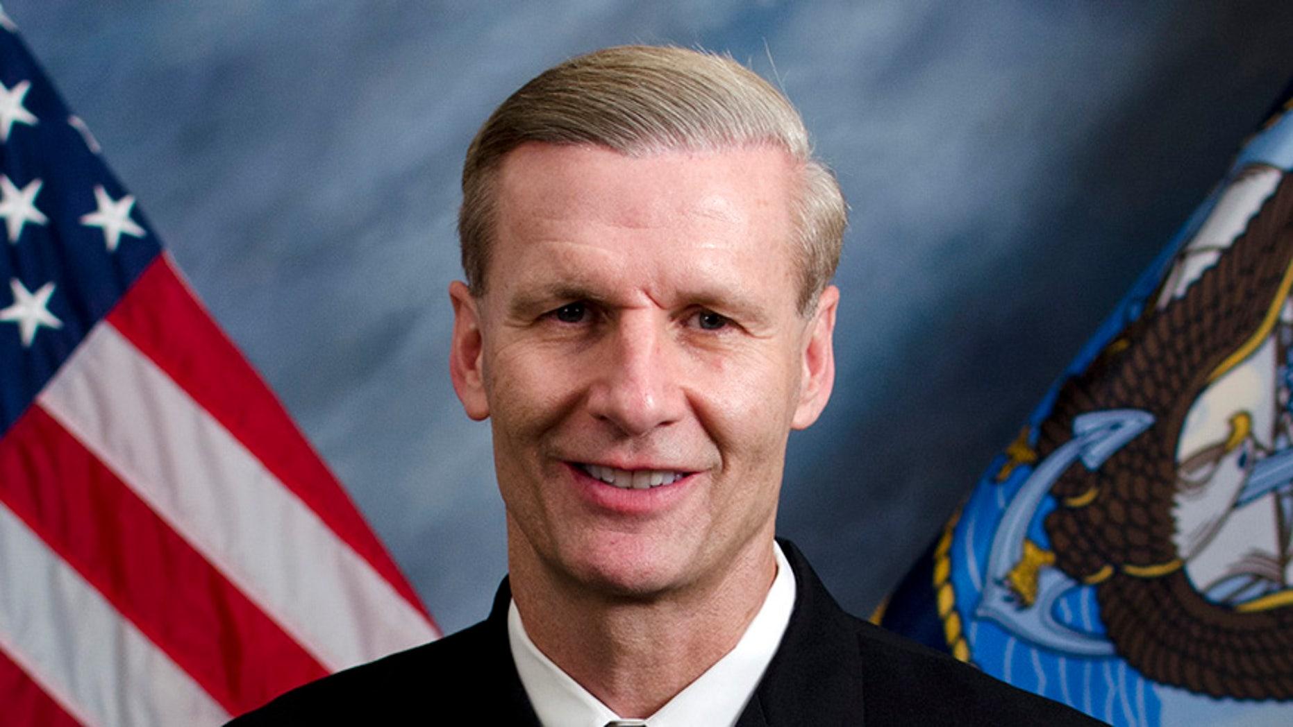 Vice Admiral Joseph Aucoin, commander of the Navy's 7th Fleet.