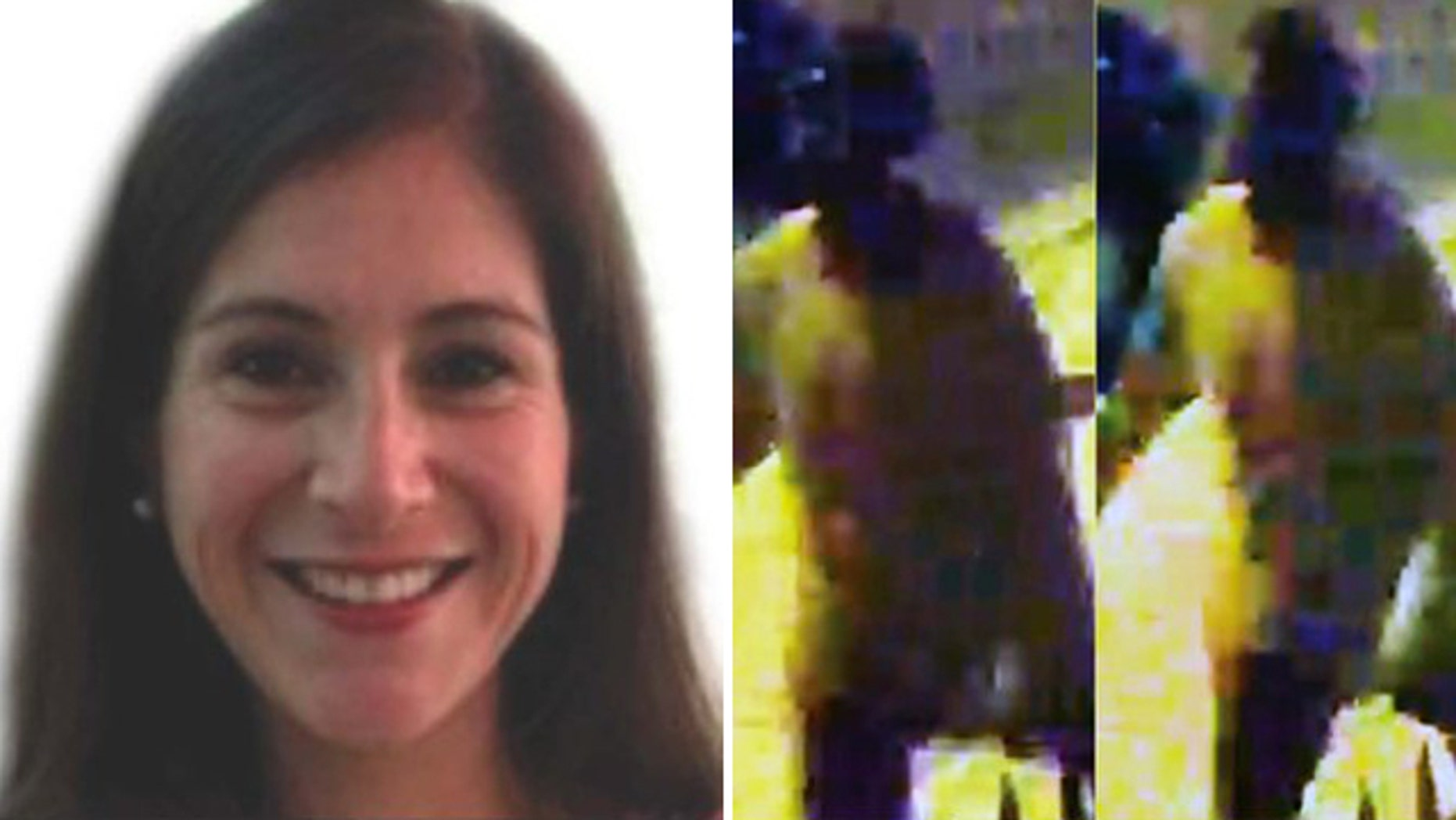 Wendy K. Martinez, 35, was stabbed to death in Logan Circle Tuesday night. Police are looking for the suspect, right.