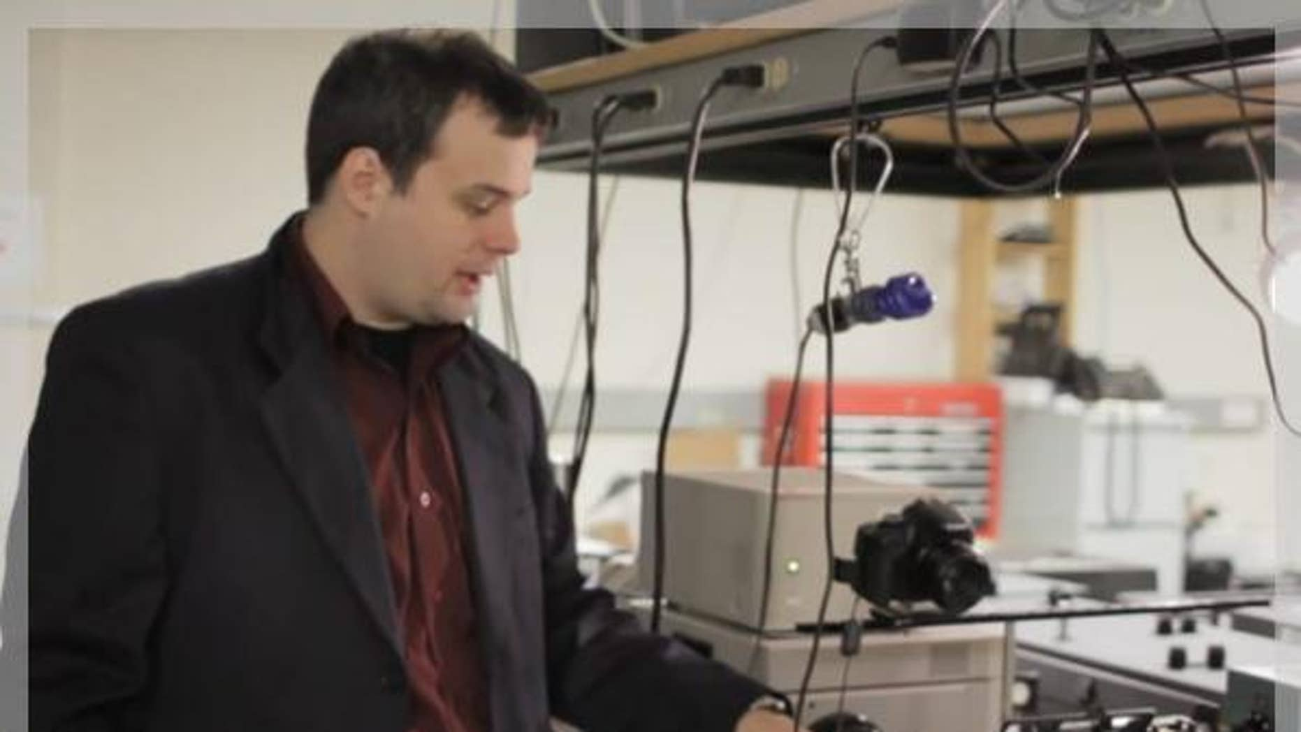 Andreas Velten, a postdoctoral researcher at MIT's Media Lab, explains how the Camera Culture group set up an imaging system capable of taking video at one trillion frames per second.