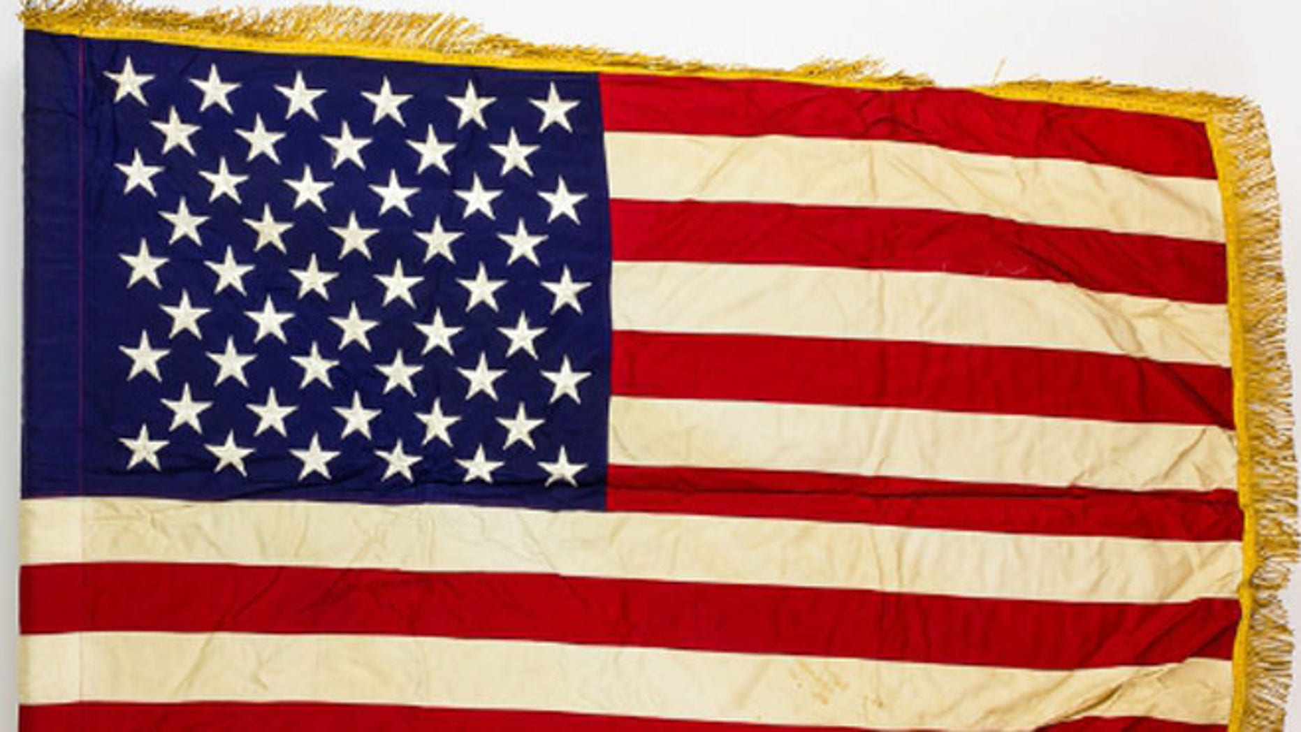 The last American combat flag used in Vietnam, now being sold. (PRNewsFoto/Alexander Historical Auctions L)