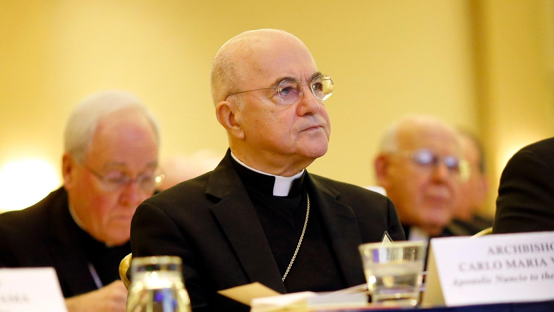 Archbishop Carlo Maria Vigano in November.