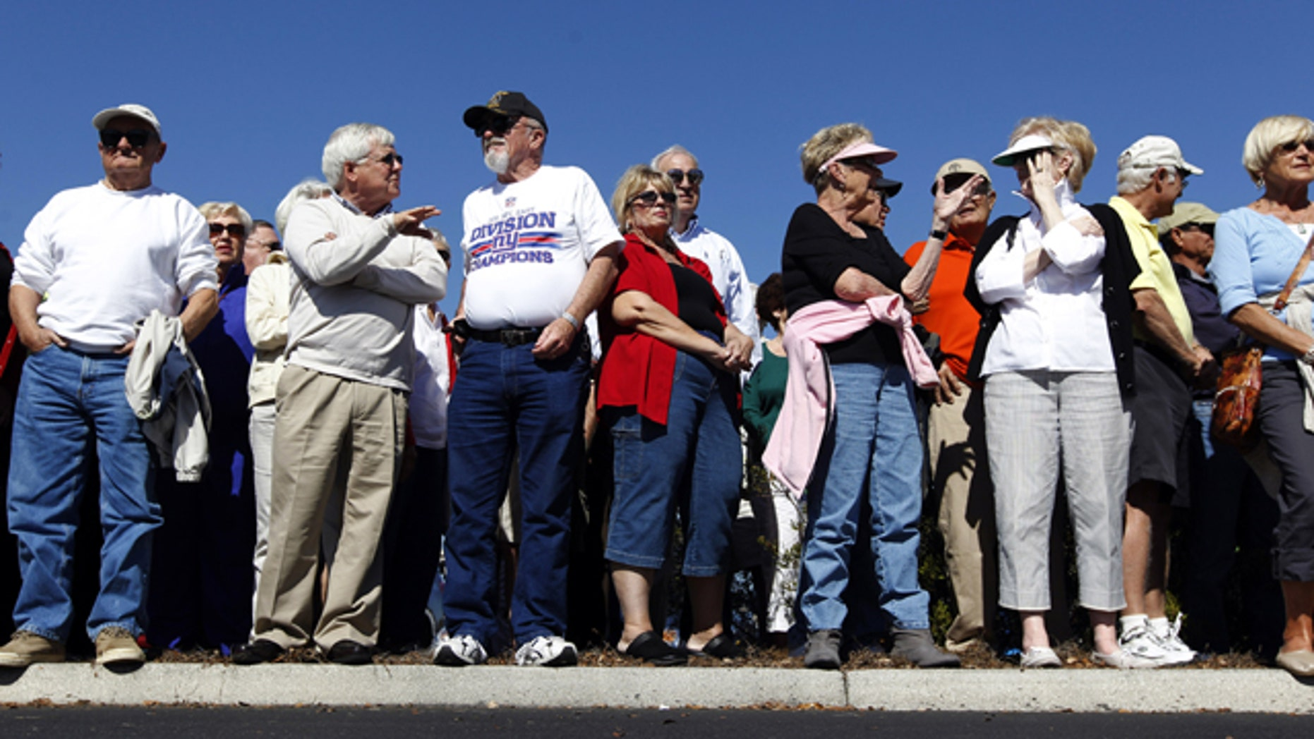 Jan. 29, 2012: Supporters wait for Republican presidential candidate former House Speaker Newt Gingrich to arrive at an event at the The Villages in Lady Lake, Fla.