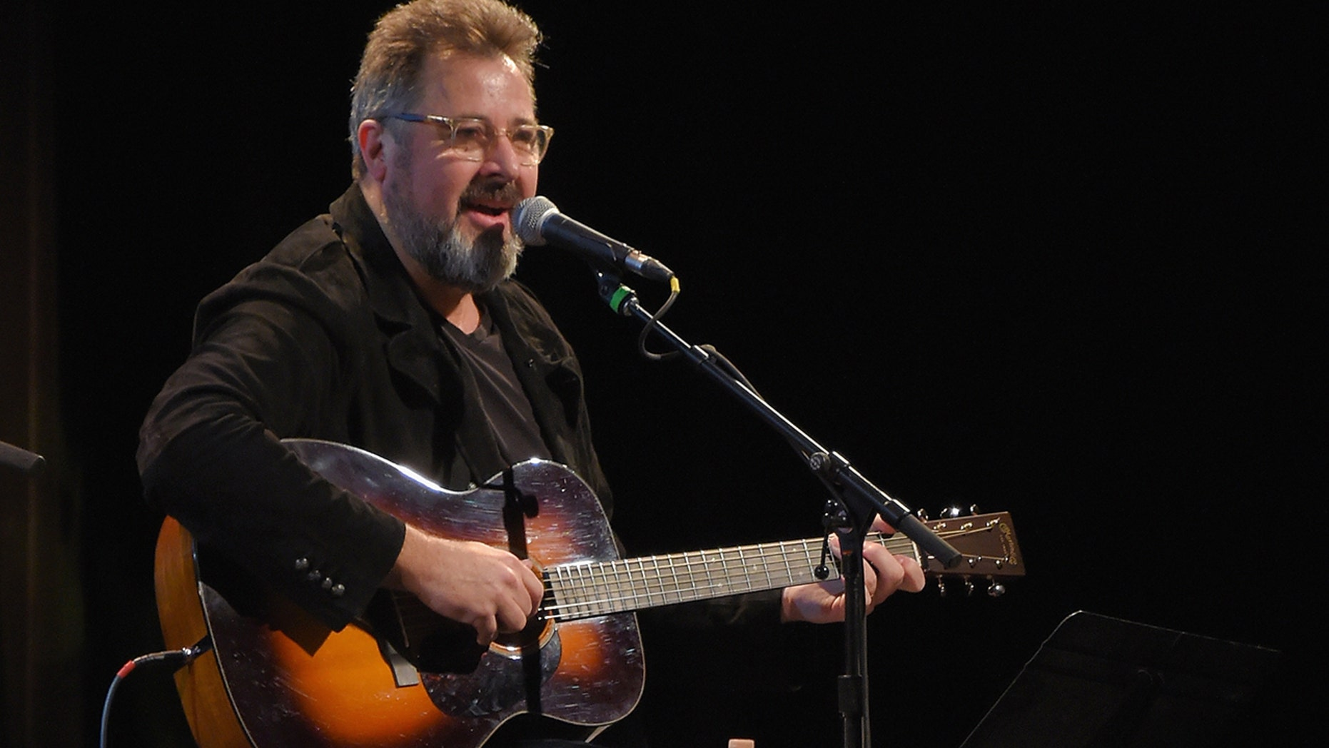 "Vince Gill performed his song ""Forever Changed"" at the Country Music Hall of Fame and Museum's ""All for the Hall"" Benefit on February 13, 2018 in New York City."