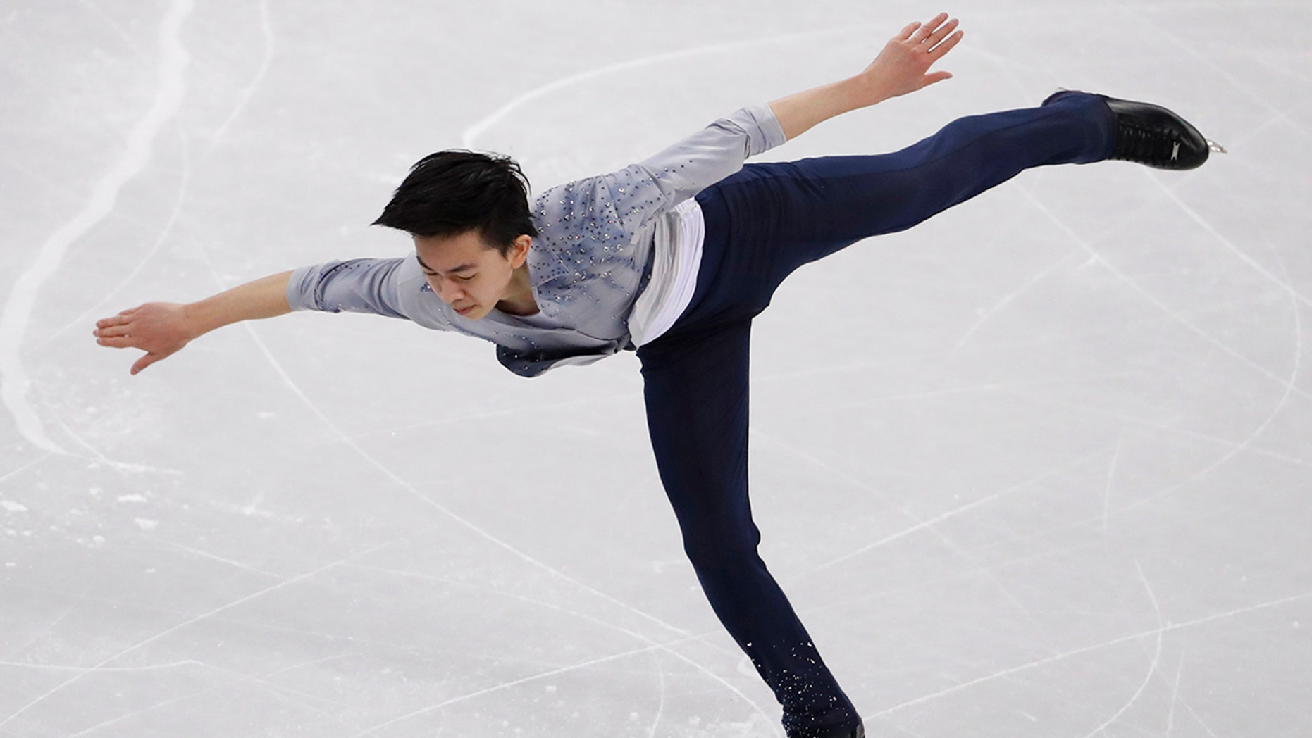 17-year-old Vincent Zhou of California became the first person to land a Quad Lutz at the 2018 Pyeongchang Winter Olympics.