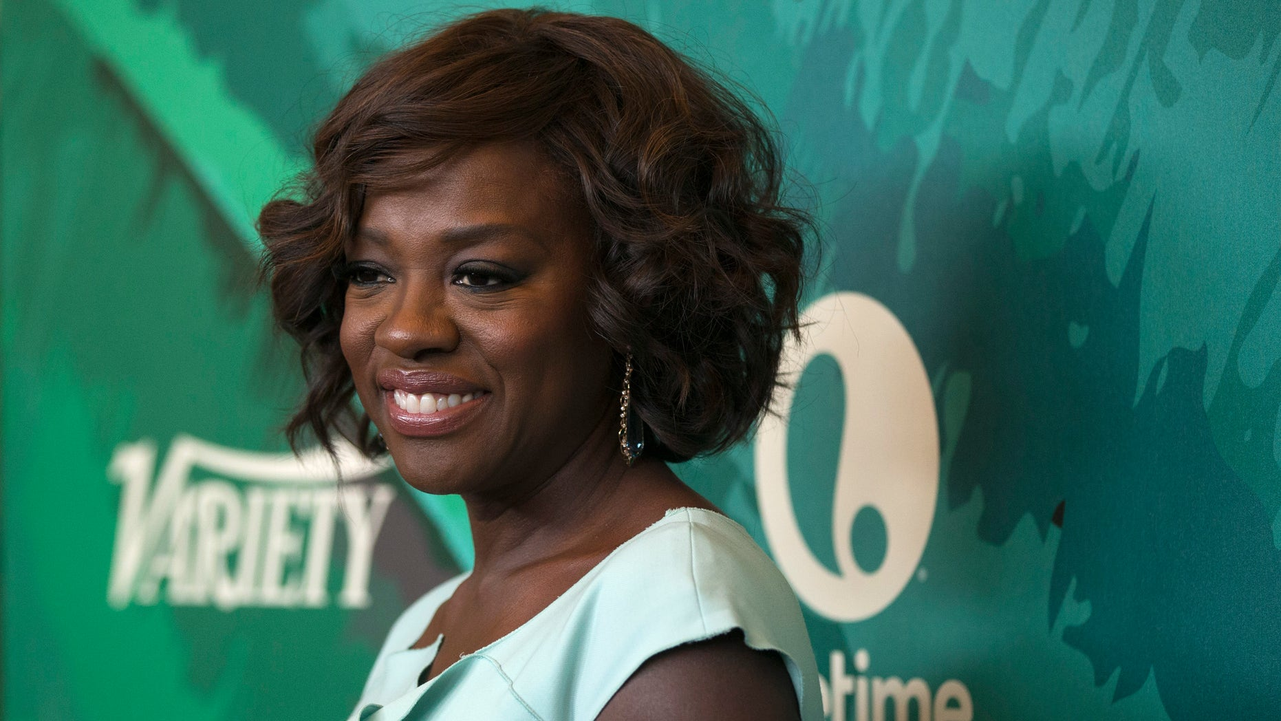 October 10, 2014. Actress Viola Davis poses at the seventh Variety's Power of Women luncheon at the Beverly Wilshire Hotel in Beverly Hills, California.