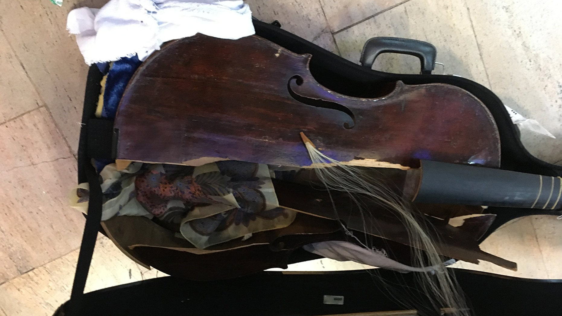 """A musician flying from Brazil to Israel says her $200,000 viola da gamba was severely destroyed because of airline """"greed and disrespect for the musician."""""""