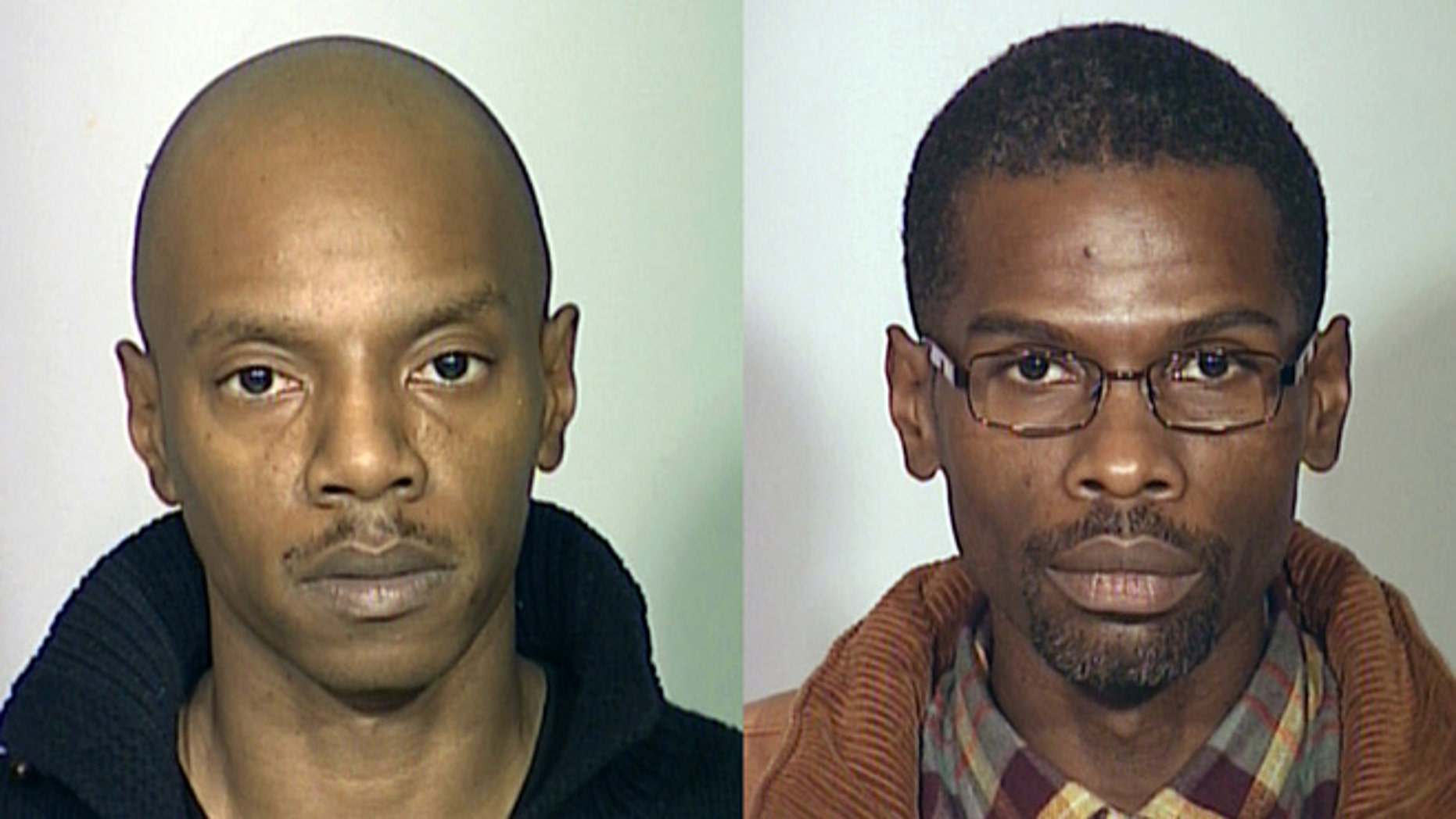 In this combination file photos provided by the  Milwaukee County Sheriff's Office is Salah Salahadyn, right, and Universal K. Allah, left, both of Milwaukee. (AP/Milwaukee County Sheriff's Office, File)