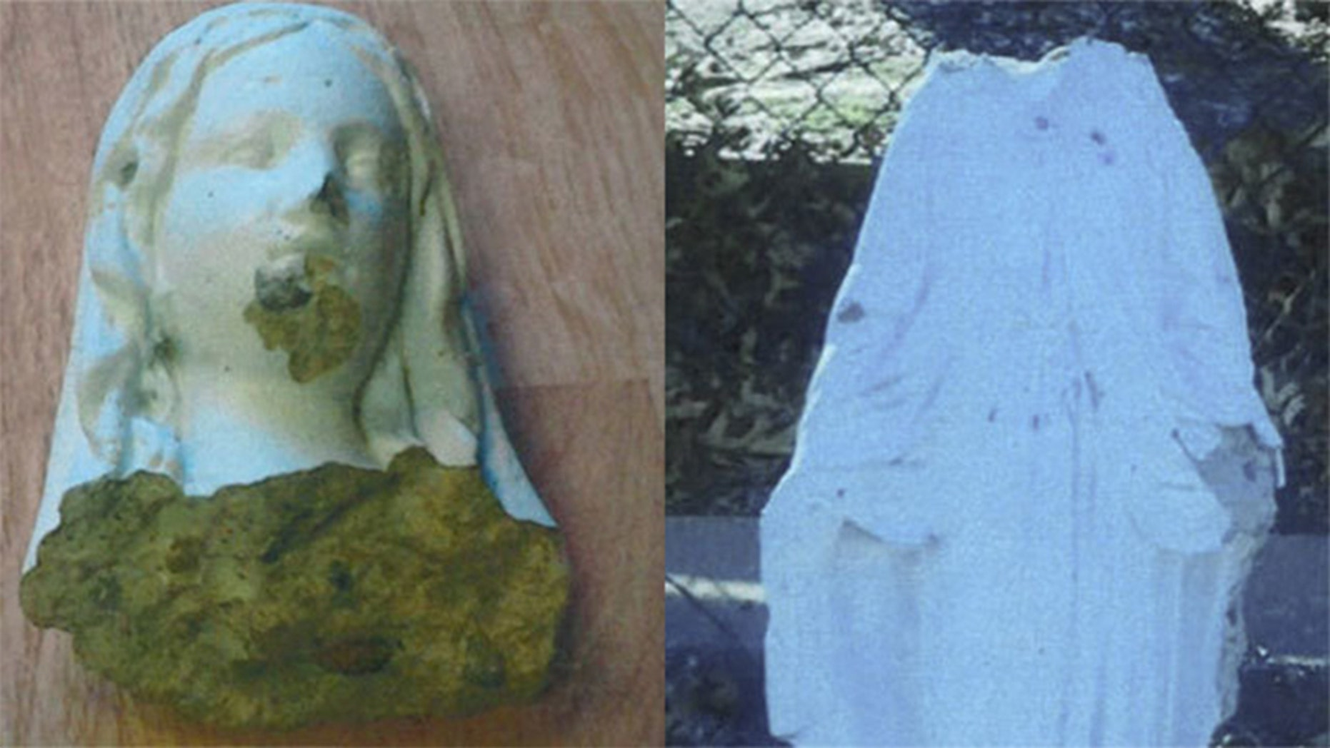 The smashing of a Virgin Mary statue outside a church in New York is being looked at as a hate crime.