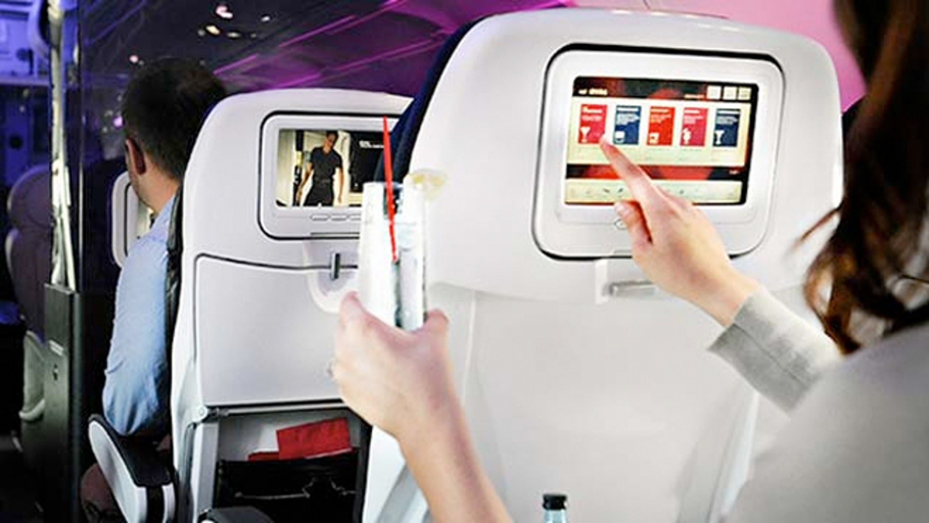 Virgin America now allows people on its flights the ability to send drinks, a meal or snack to fellow passengers that catch their eye.