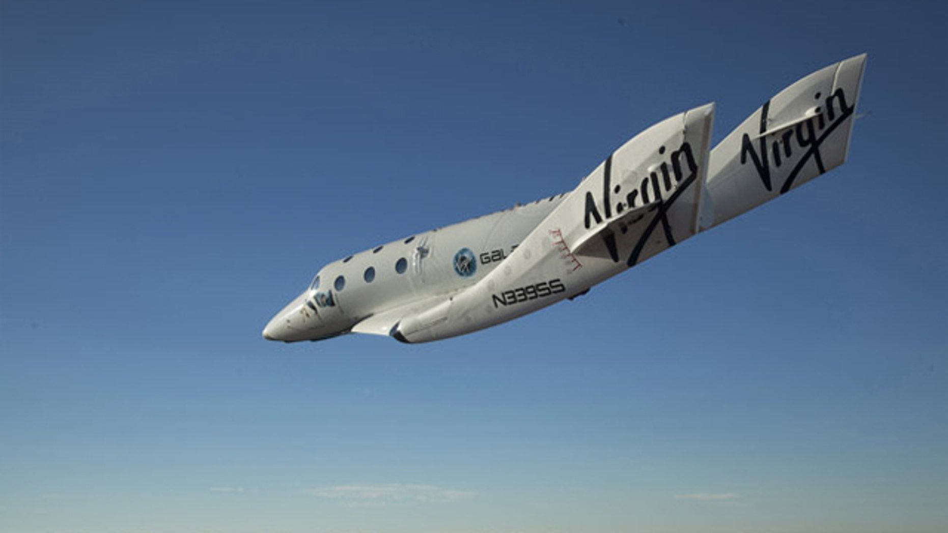 First solo glide flight of Virgin Galactic's SpaceShipTwo on Oct. 10, 2010.