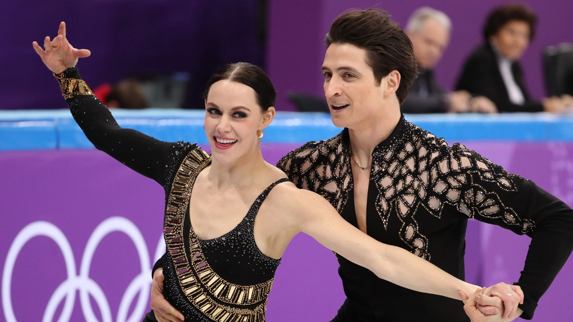 Tessa Virtue and Scott Moir of Canada compete at the Pyeongchang 2018 Winter Olympics.