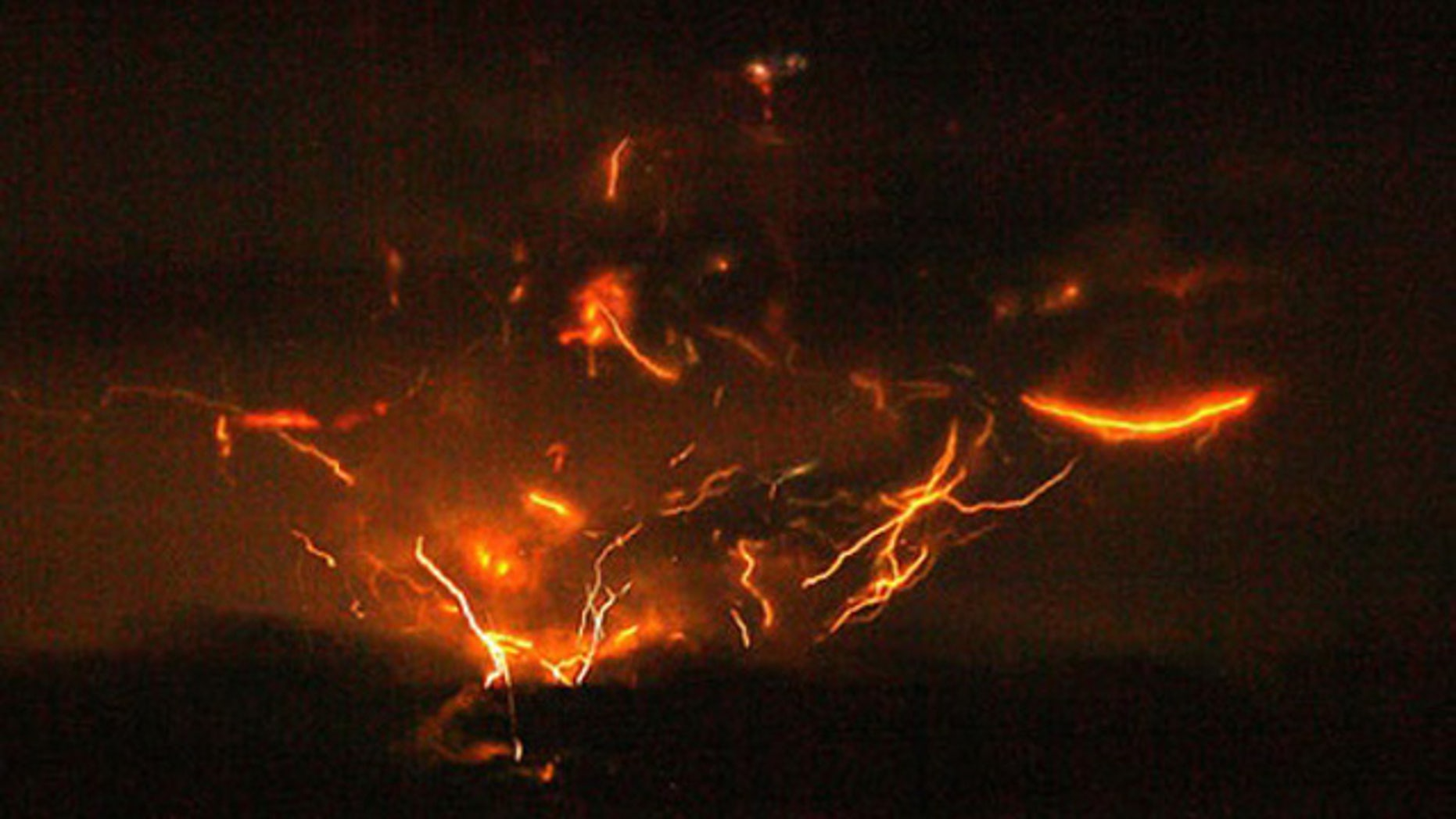 Magma becomes lava after leaving the Earth's crust, shown here on Mount Redoubt.