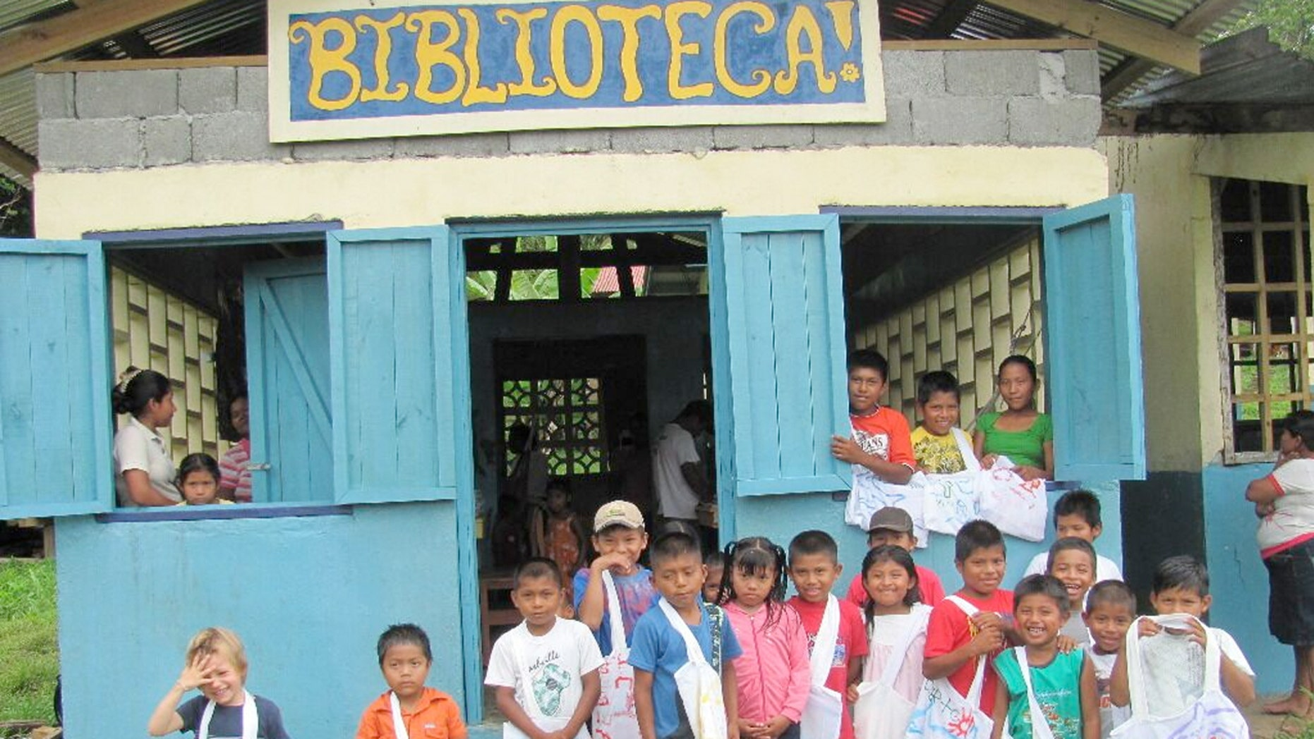 A library in Bahia Honda, on Isla Bastimentos in Panama.