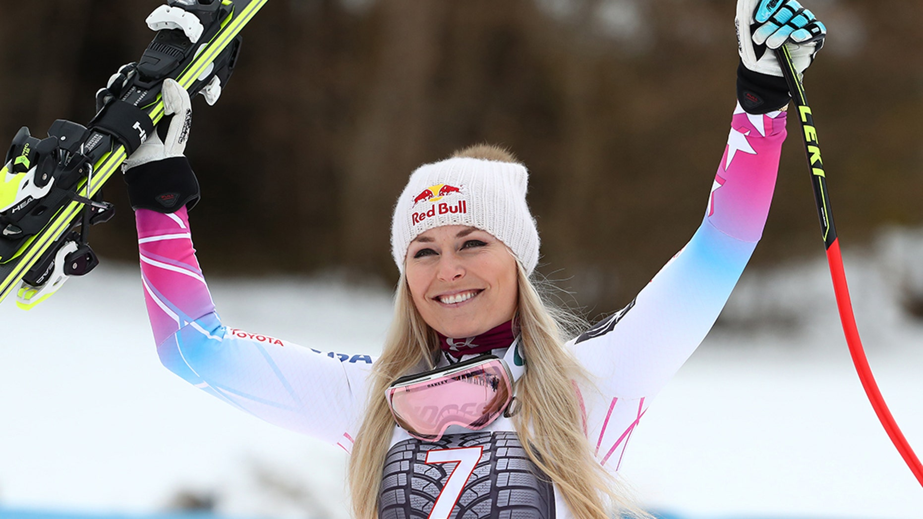The ski star's flight from Munich to Pyeongchang was seriously delayed.