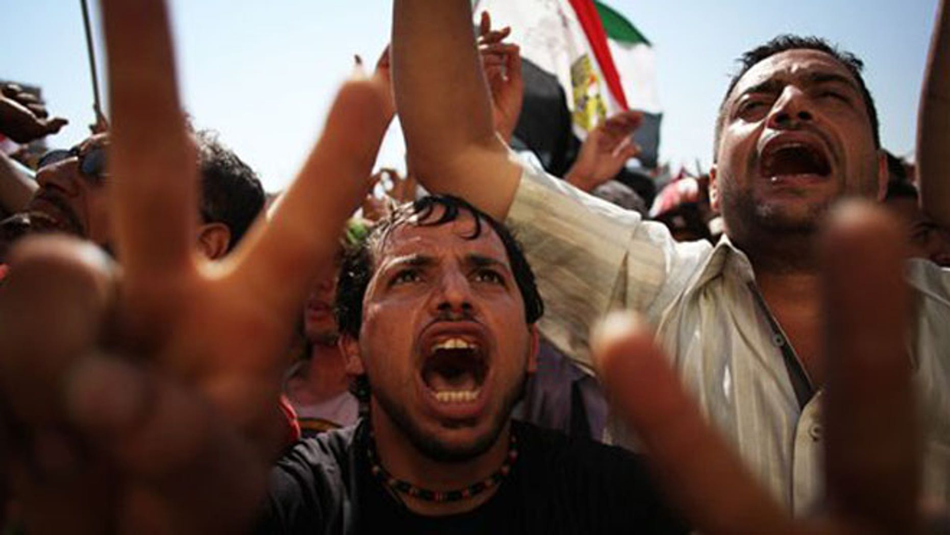 June 24, 2012: Egyptians celebrate the victory of Mohammed Morsi in the presidential election in Tahrir square, Cairo, Egypt.