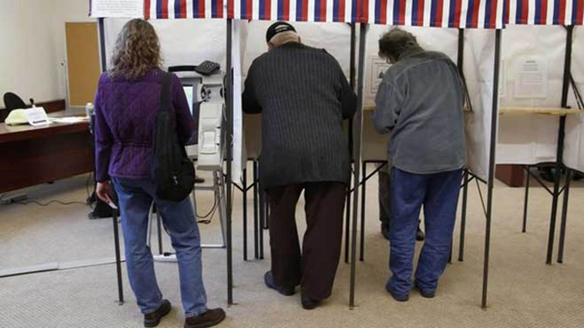 April 3, 2012: Voters take to the polls in Fredonia, Wisconsin.