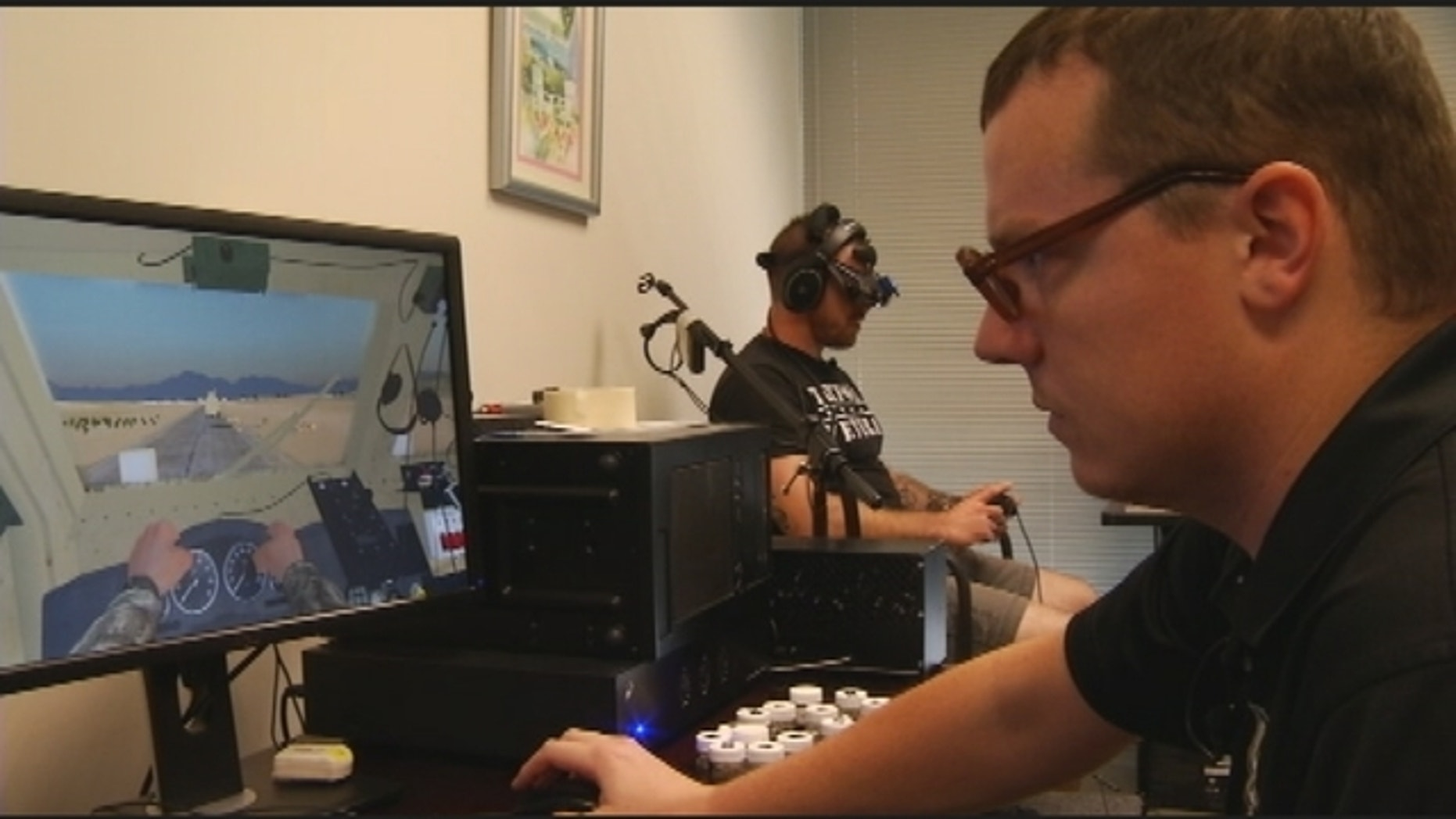 Iraq War veteran Bruce Chambers was the first patient to go through the UCF Restores program, which combines prolonged exposure therapy with virtual reality to help treat veterans' and active-duty soldiers' post-traumatic stress disorder (PTSD).