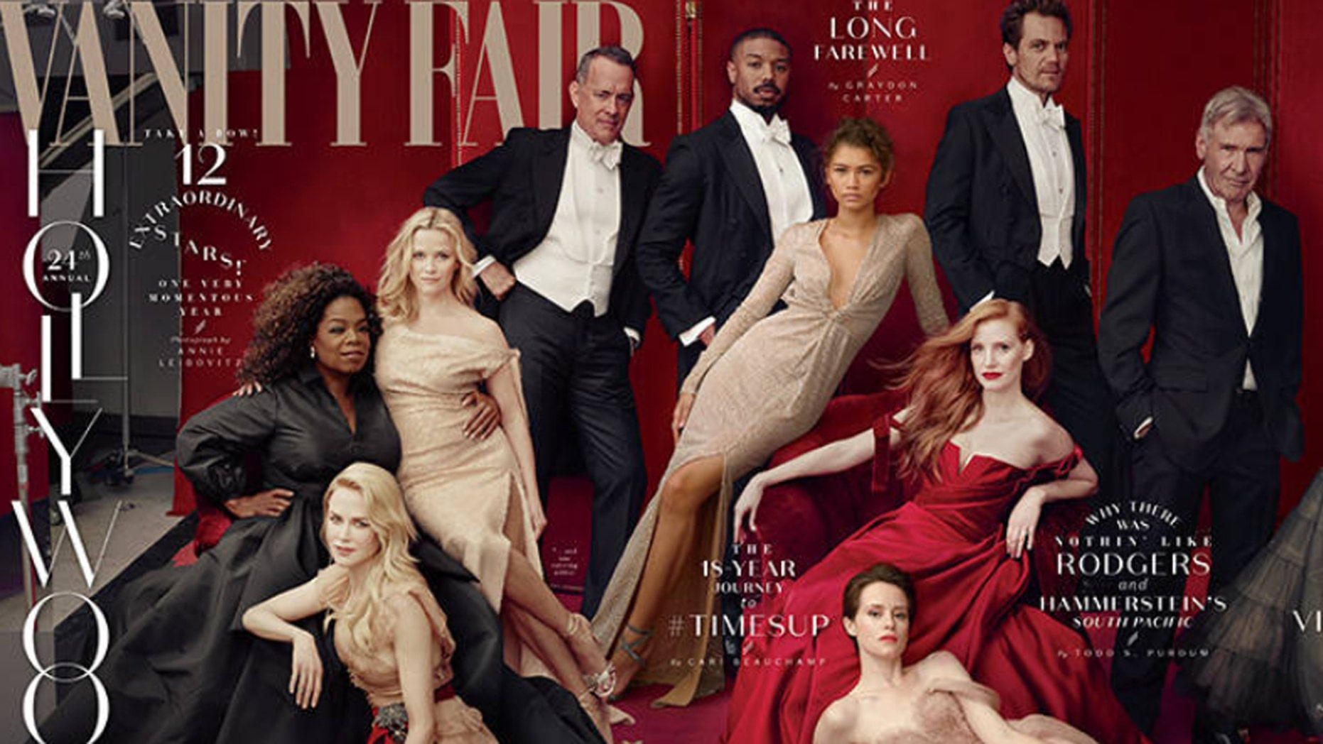 Vanity Fair released its 24th  annual, Annie Leibovitz shot, Vanity Fair Hollywood issue, featuring the top 2018 faces of the industry.