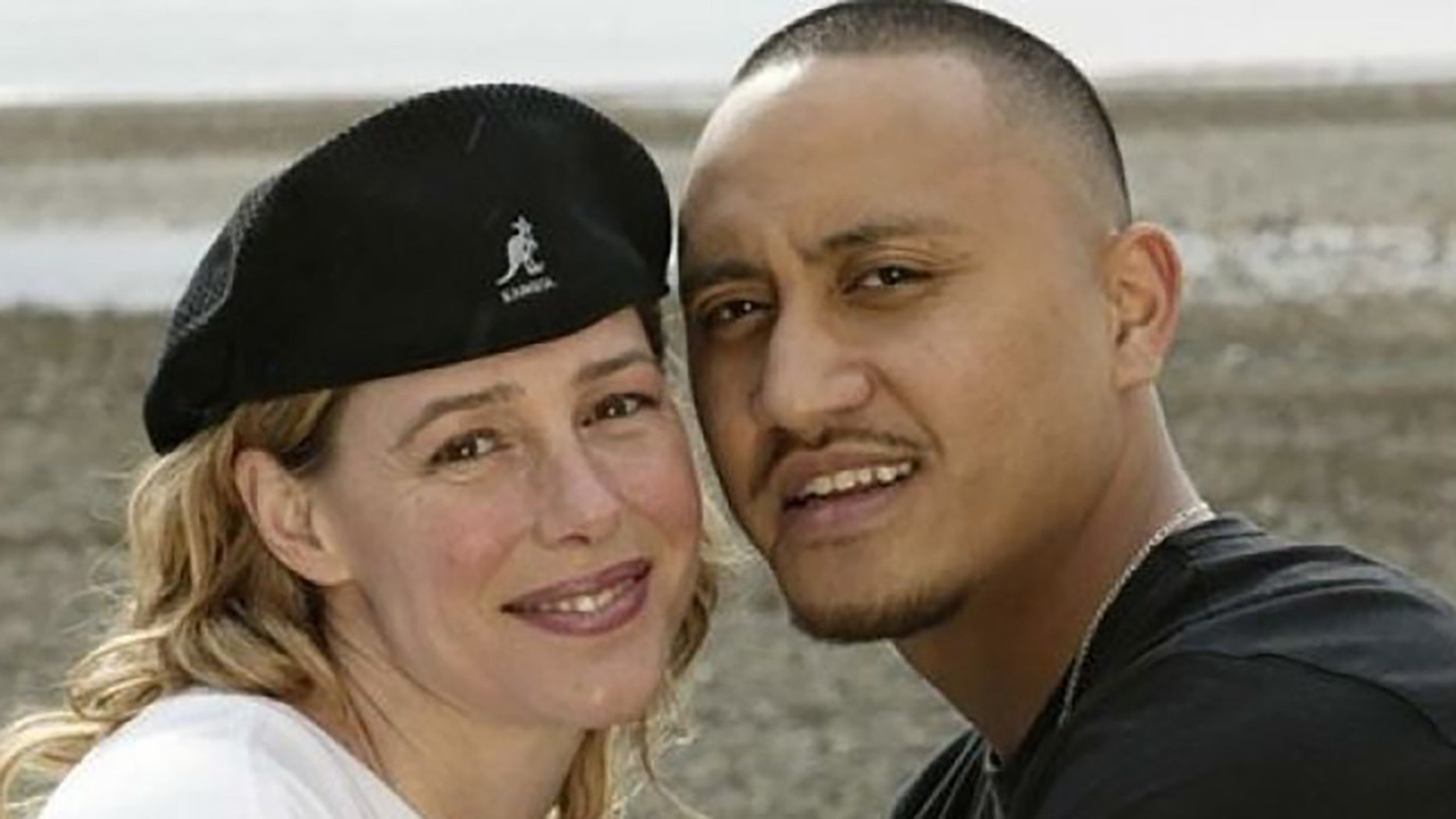 Mary Kay Letourneau and Villi Fualaau posing for a photo April 9, 2005, outside their home in Seattle.