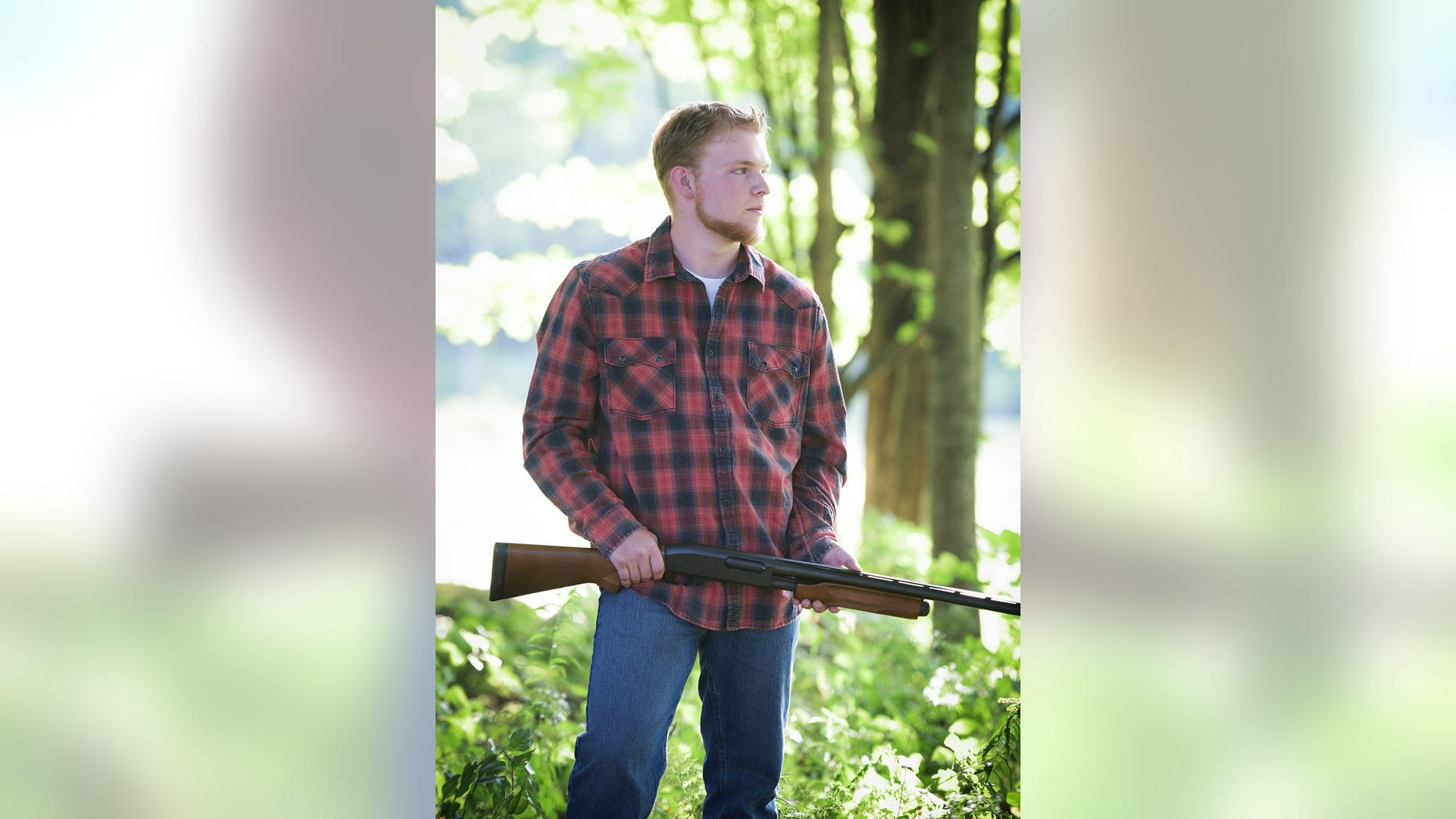 Wane Gelinas, an avid hunter, wanted to use this photo for his senior yearbook. His Maine school wouldn't let him.