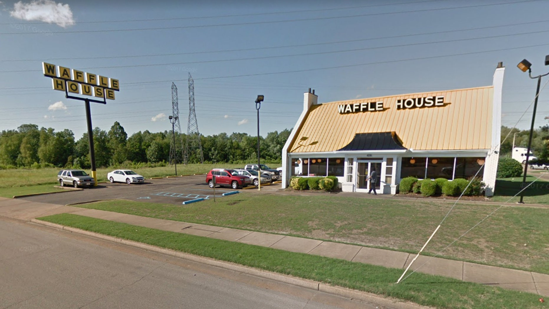 """The company has since said that the manager of the Waffle House has """"handled the situation."""""""