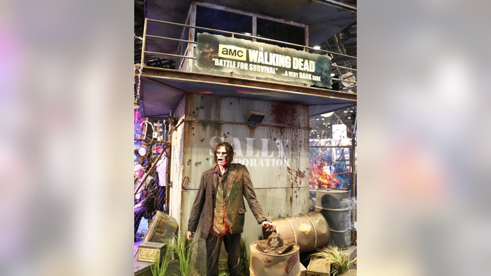 The first walker from AMC's live action amusement park ride.