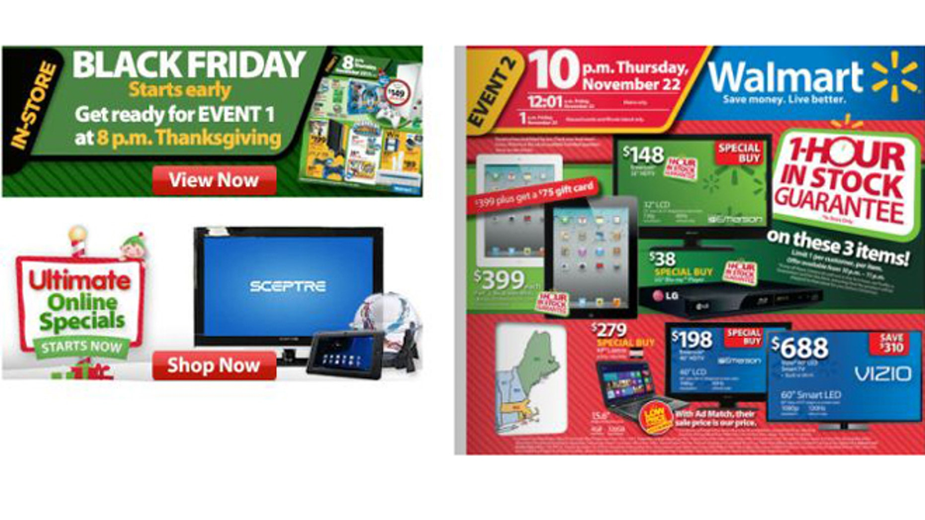 Christmas comes early: Walmart has already revealed the Black Friday deals it plans for Thanksgiving.