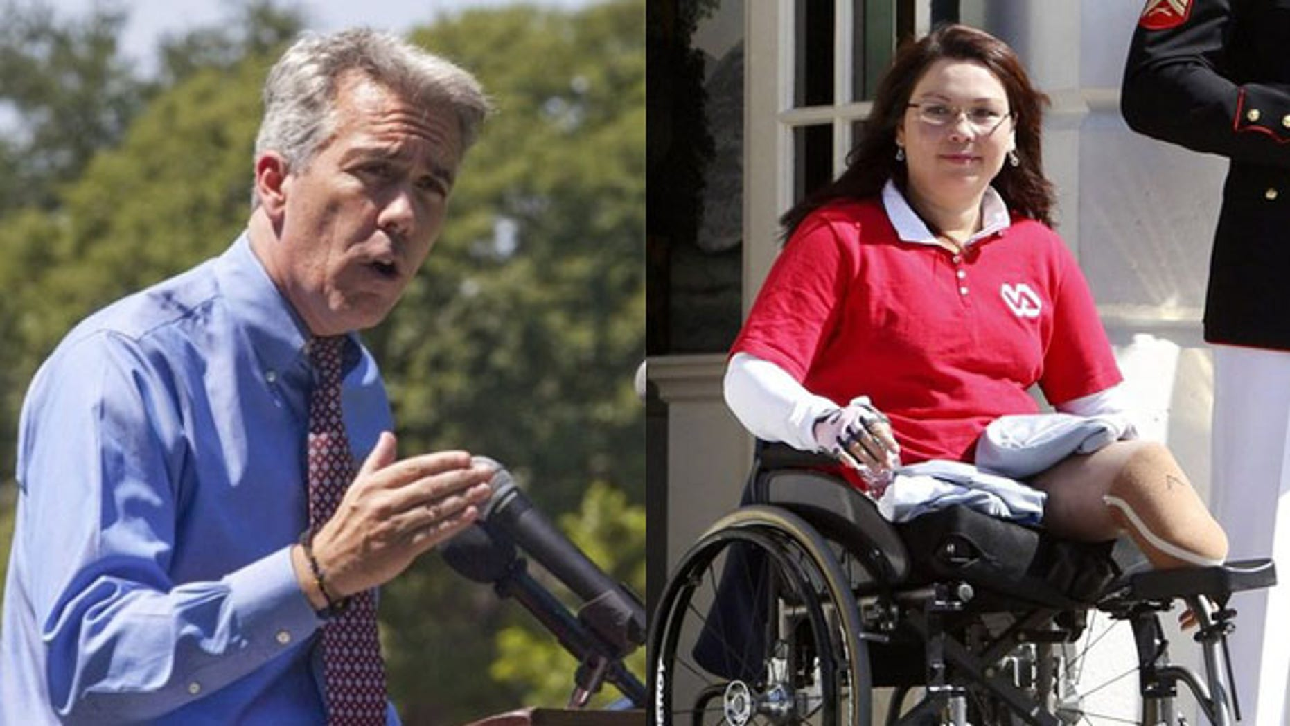 Shown here are Rep. Joe Walsh, left, and Democratic rival Tammy Duckworth.
