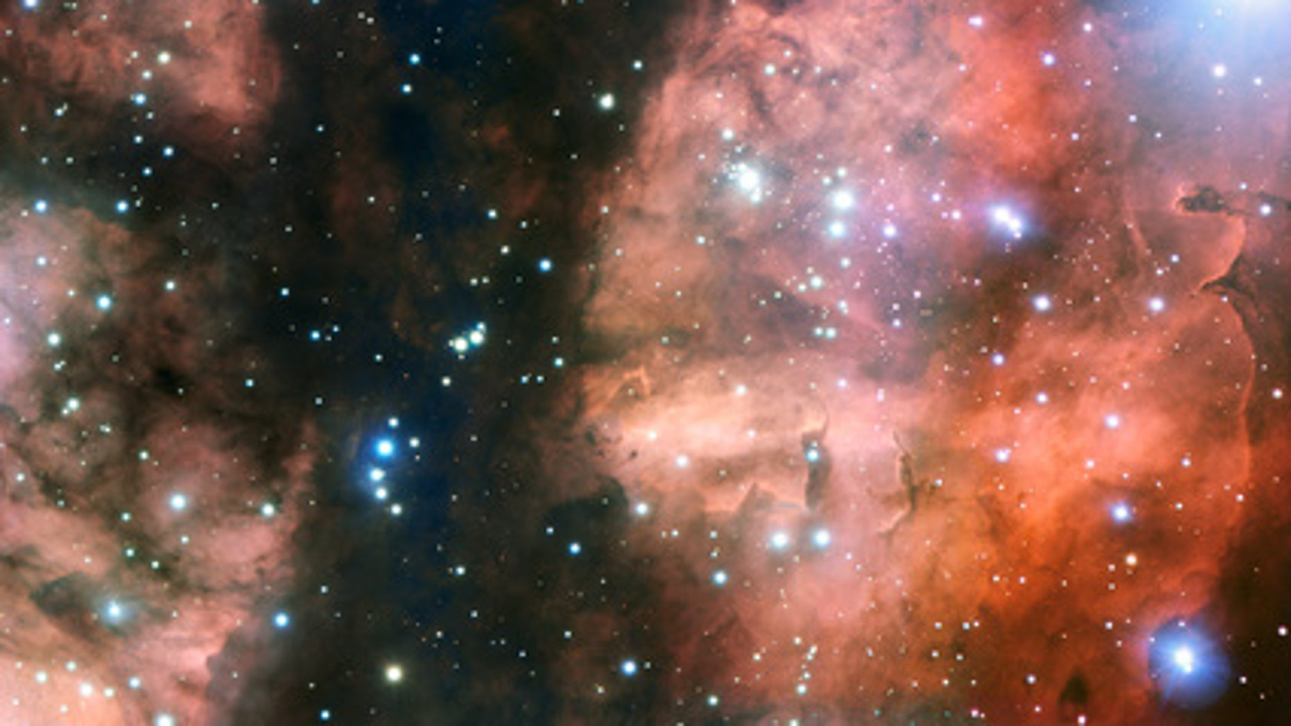 ESO's Very Large Telescope (VLT) has taken the most detailed image so far of a spectacular part of the stellar nursery called NGC 6357. The view shows many hot young stars, glowing clouds of gas and weird dust formations sculpted by ultraviolet radiation and stellar winds.