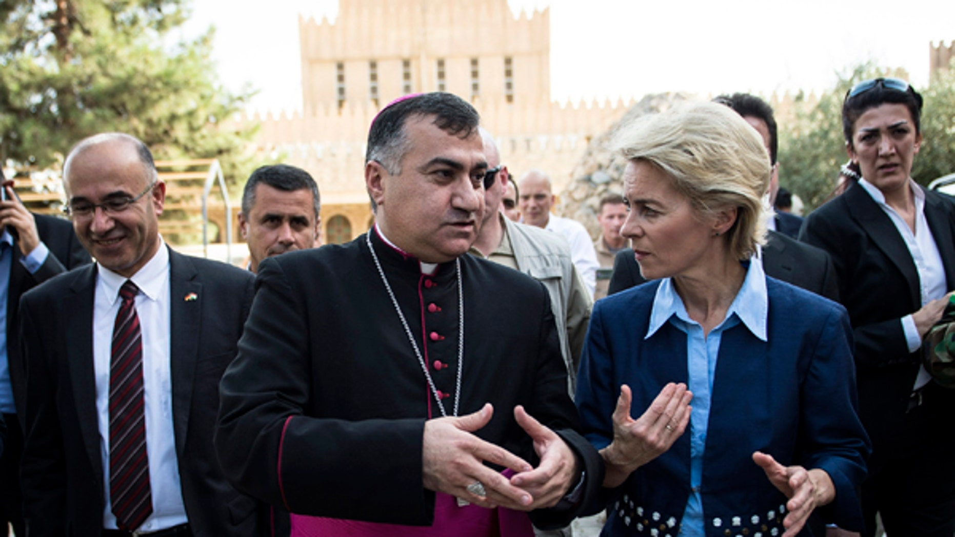 Iraqi Archbishop Bashar Warda (C) the Chaldean Archbishop of Arbil, says that he is hopeful that the Trump Administration will do more to provide assistance to Christians and other religious minorities in Northern Iraq.
