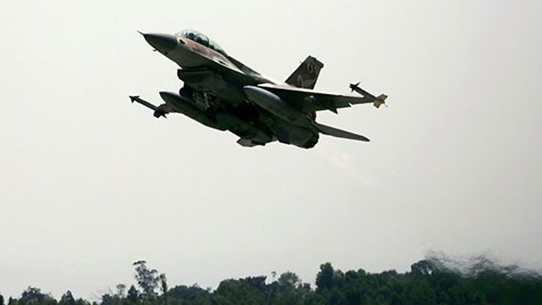 In this file photo taken Sunday, July 23, 2006, an Israeli F-16 warplane takes off from an air force base in southern Israel. On Monday, June 28, 2010, Turkey's prime minister and officials say the country has closed its airspace to some Israeli military flights following a deadly raid on a Gaza-bound aid ship.