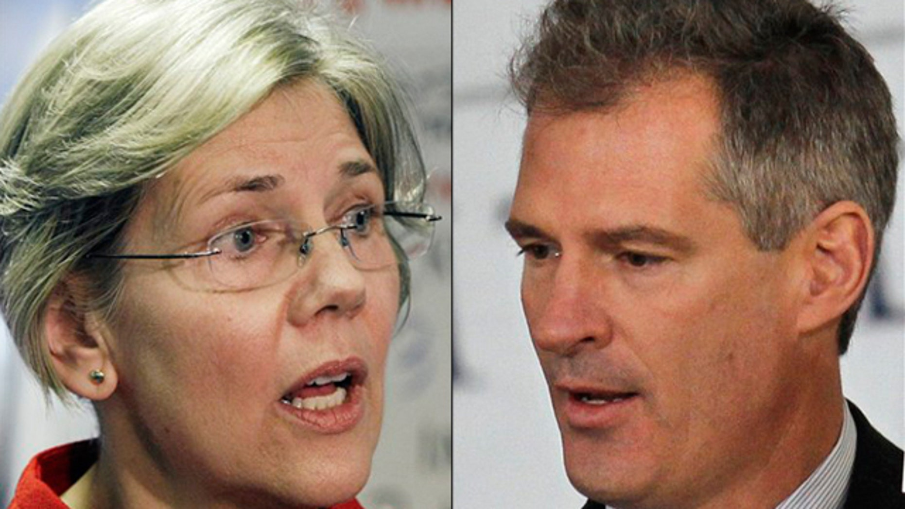 Shown here are Massachusetts Democratic Senate candidates Elizabeth Warren, left, and Scott Brown.